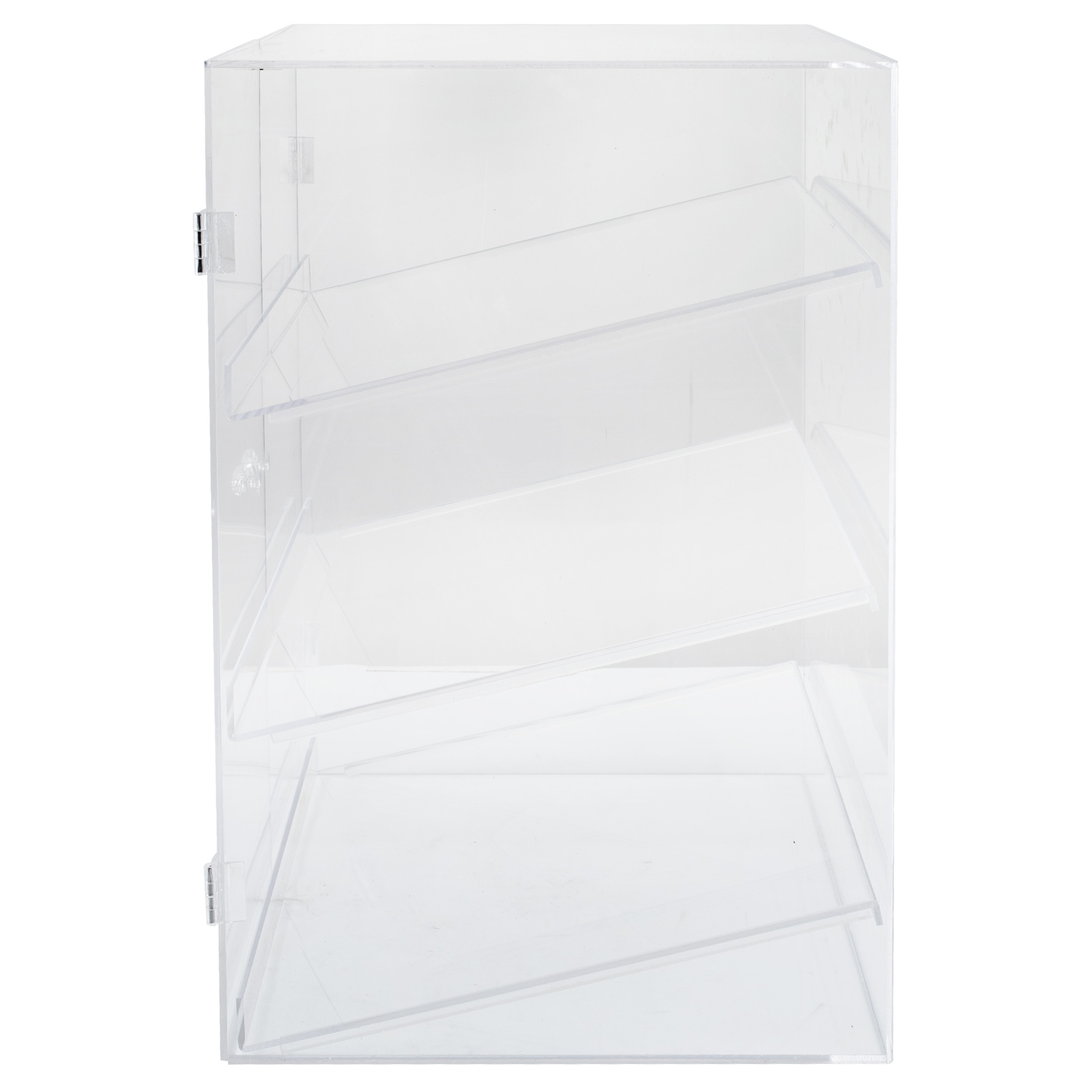 thumbnail 36 - 2-3-4-Shelves-Acrylic-Display-Cabinet-Glued-Unassembled-Bakery-Clear-Pastry