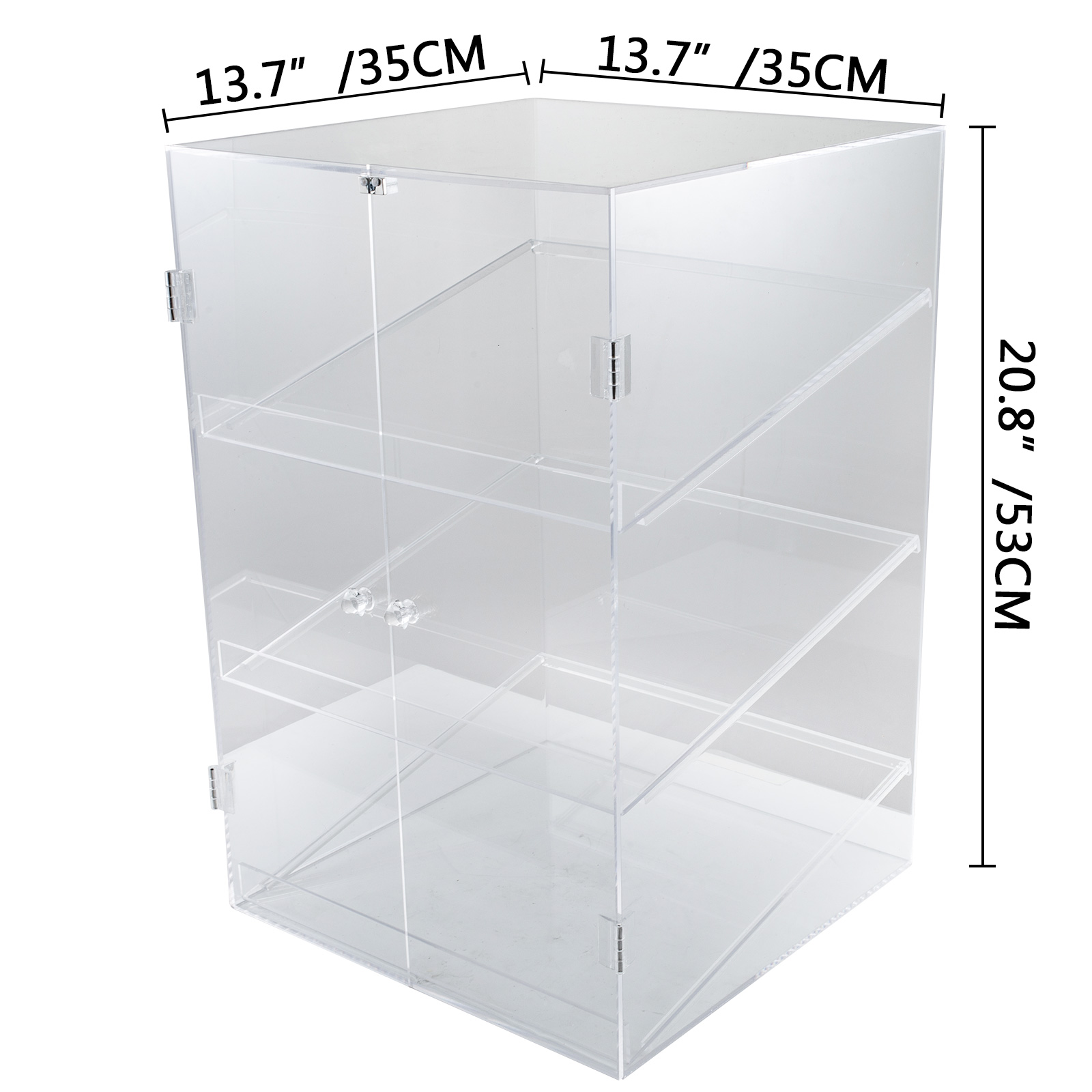 thumbnail 32 - 2-3-4-Shelves-Acrylic-Display-Cabinet-Glued-Unassembled-Bakery-Clear-Pastry