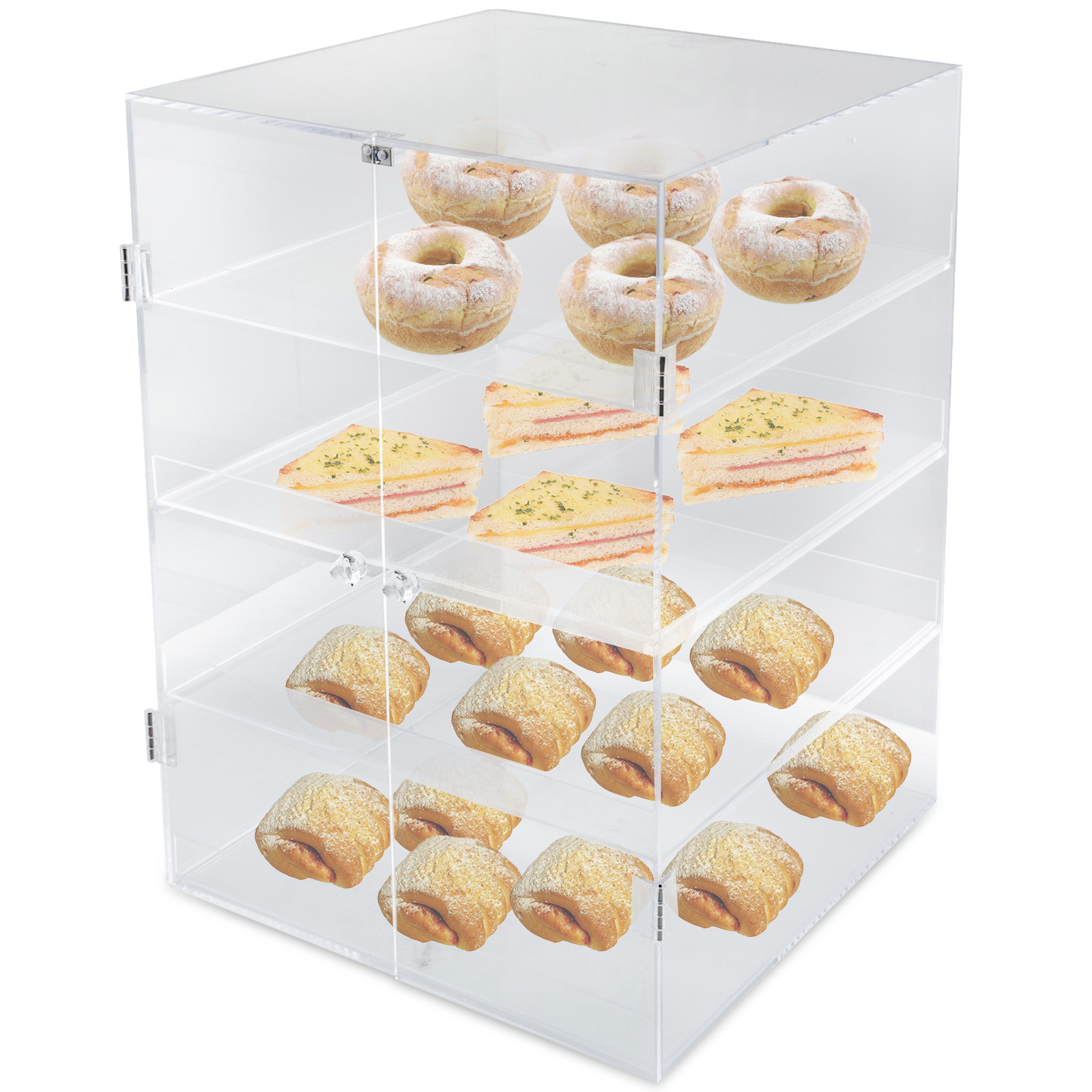 thumbnail 13 - 2-3-4-Shelves-Acrylic-Cake-Display-Cabinet-Bakery-Muffin-Cupcake-Donut-Pastries