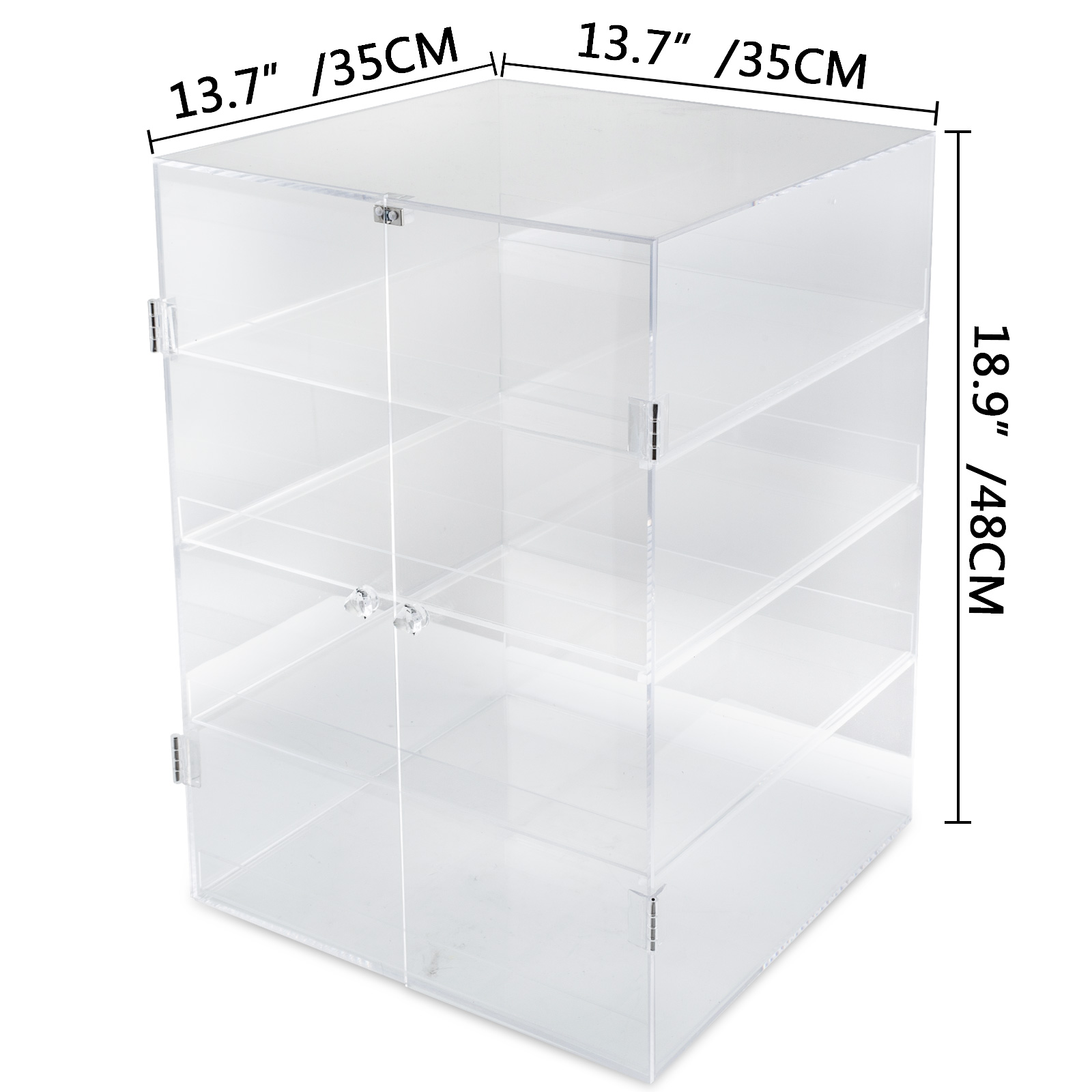 thumbnail 20 - 2-3-4-Shelves-Acrylic-Display-Cabinet-Glued-Unassembled-Bakery-Clear-Pastry