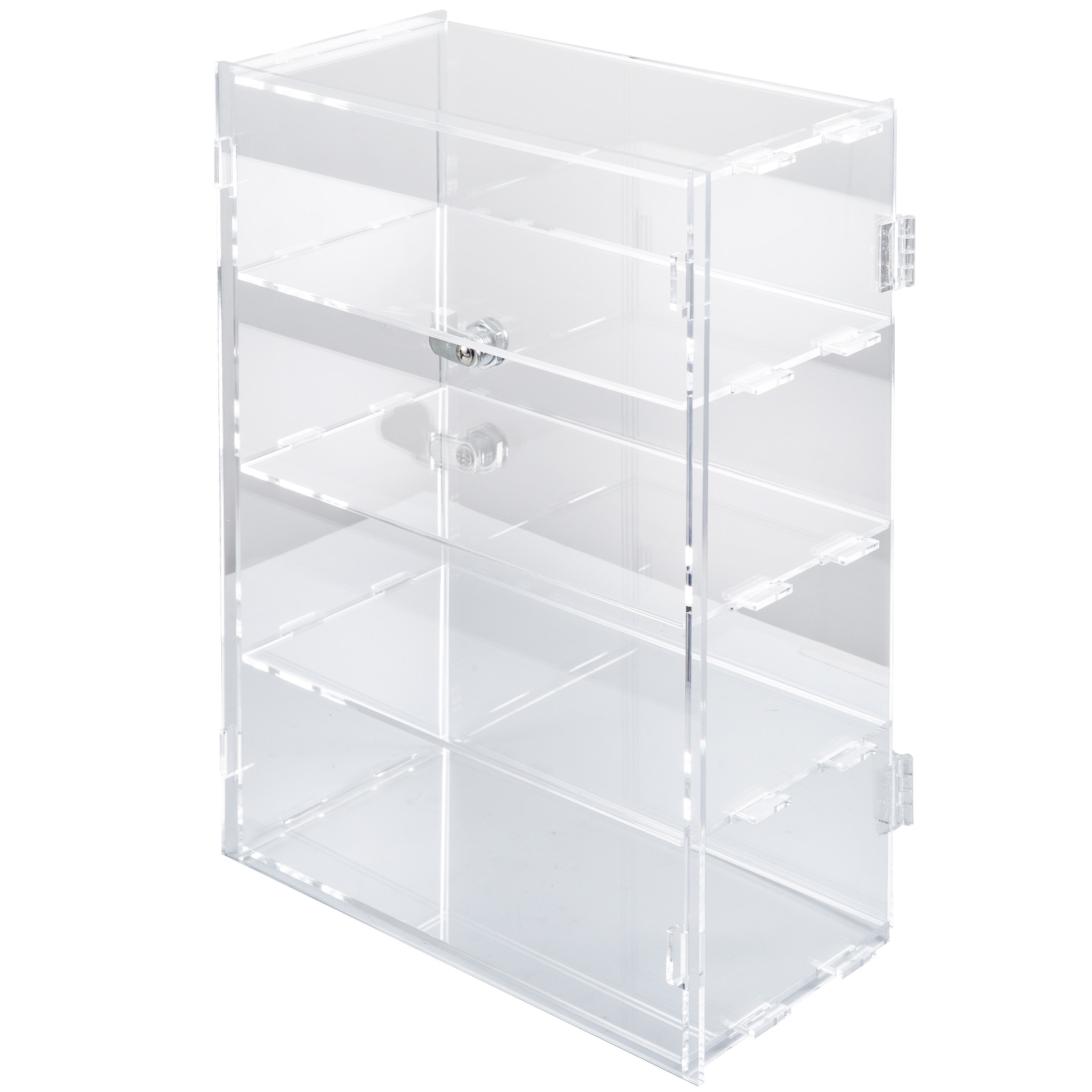 thumbnail 119 - 2-3-4-Shelves-Acrylic-Display-Cabinet-Glued-Unassembled-Bakery-Clear-Pastry