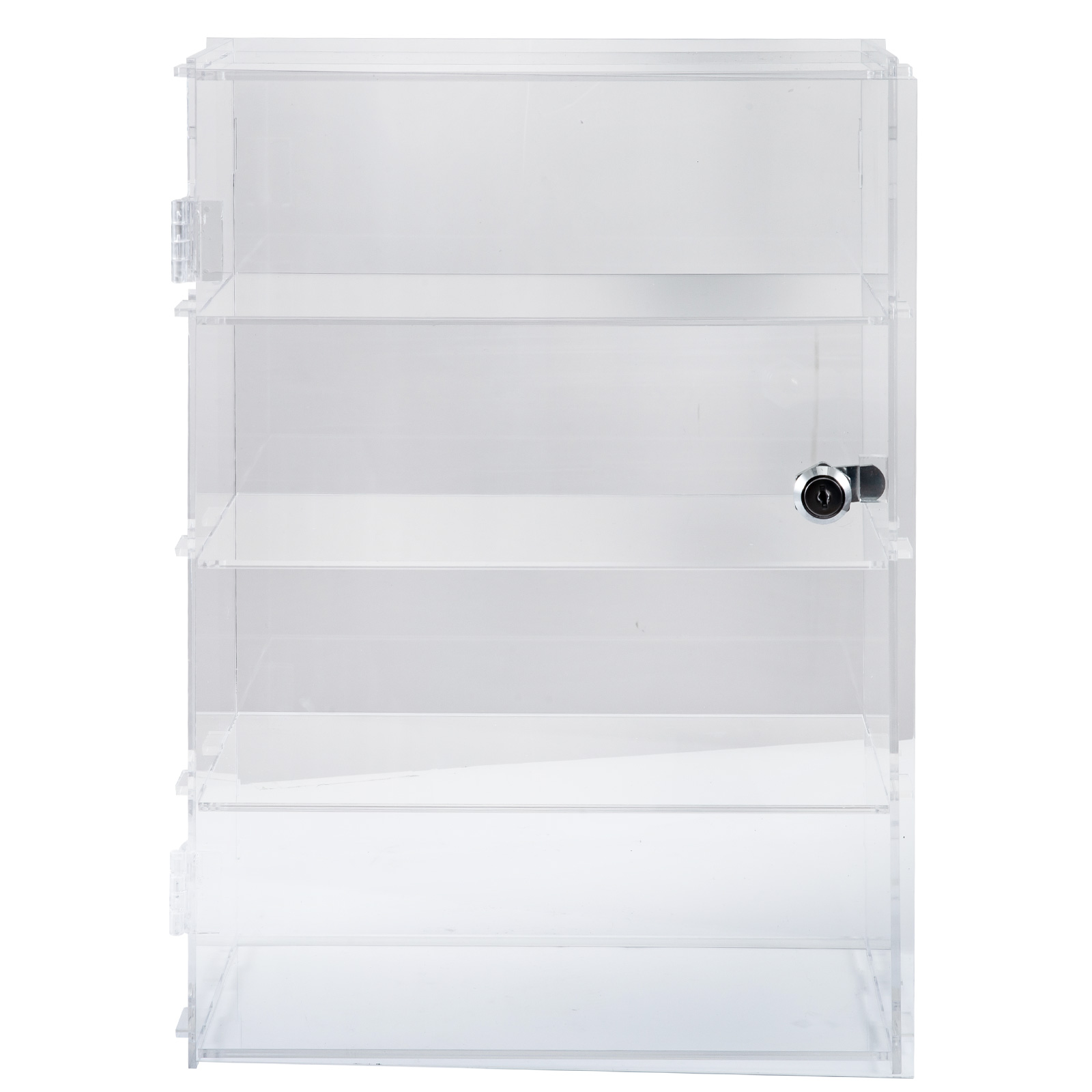 thumbnail 117 - 2-3-4-Shelves-Acrylic-Display-Cabinet-Glued-Unassembled-Bakery-Clear-Pastry