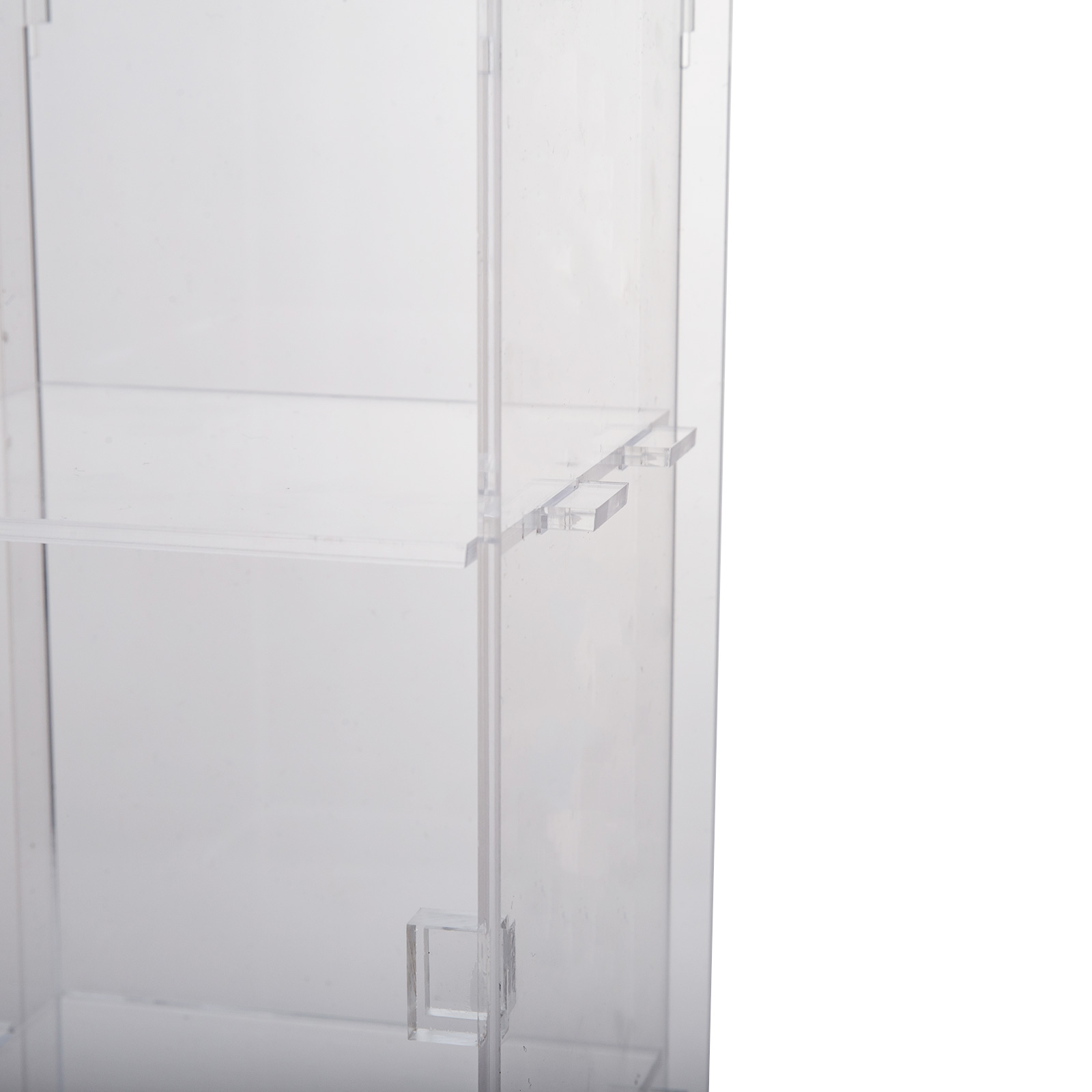 thumbnail 131 - 2-3-4-Shelves-Acrylic-Display-Cabinet-Glued-Unassembled-Bakery-Clear-Pastry
