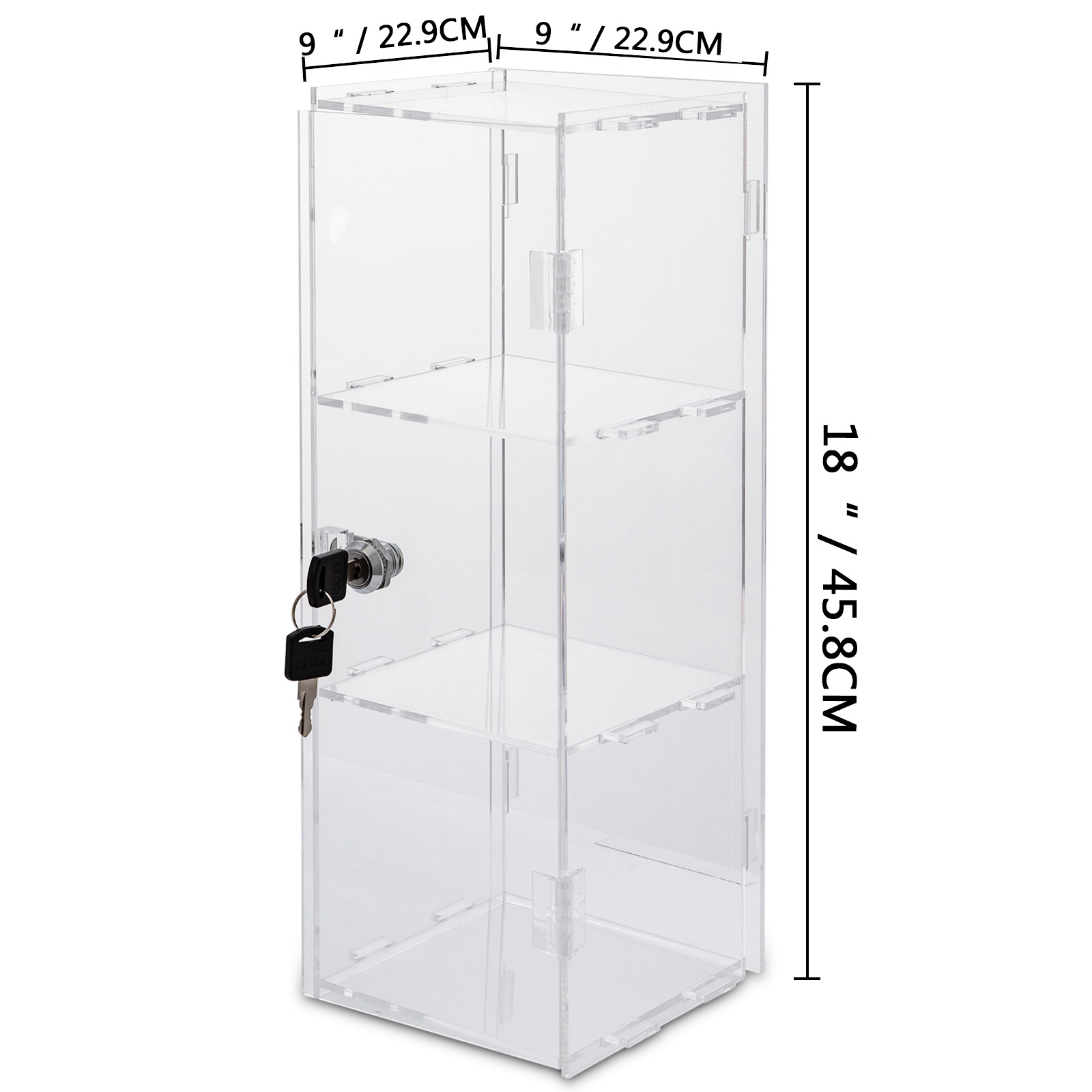 thumbnail 128 - 2-3-4-Shelves-Acrylic-Display-Cabinet-Glued-Unassembled-Bakery-Clear-Pastry