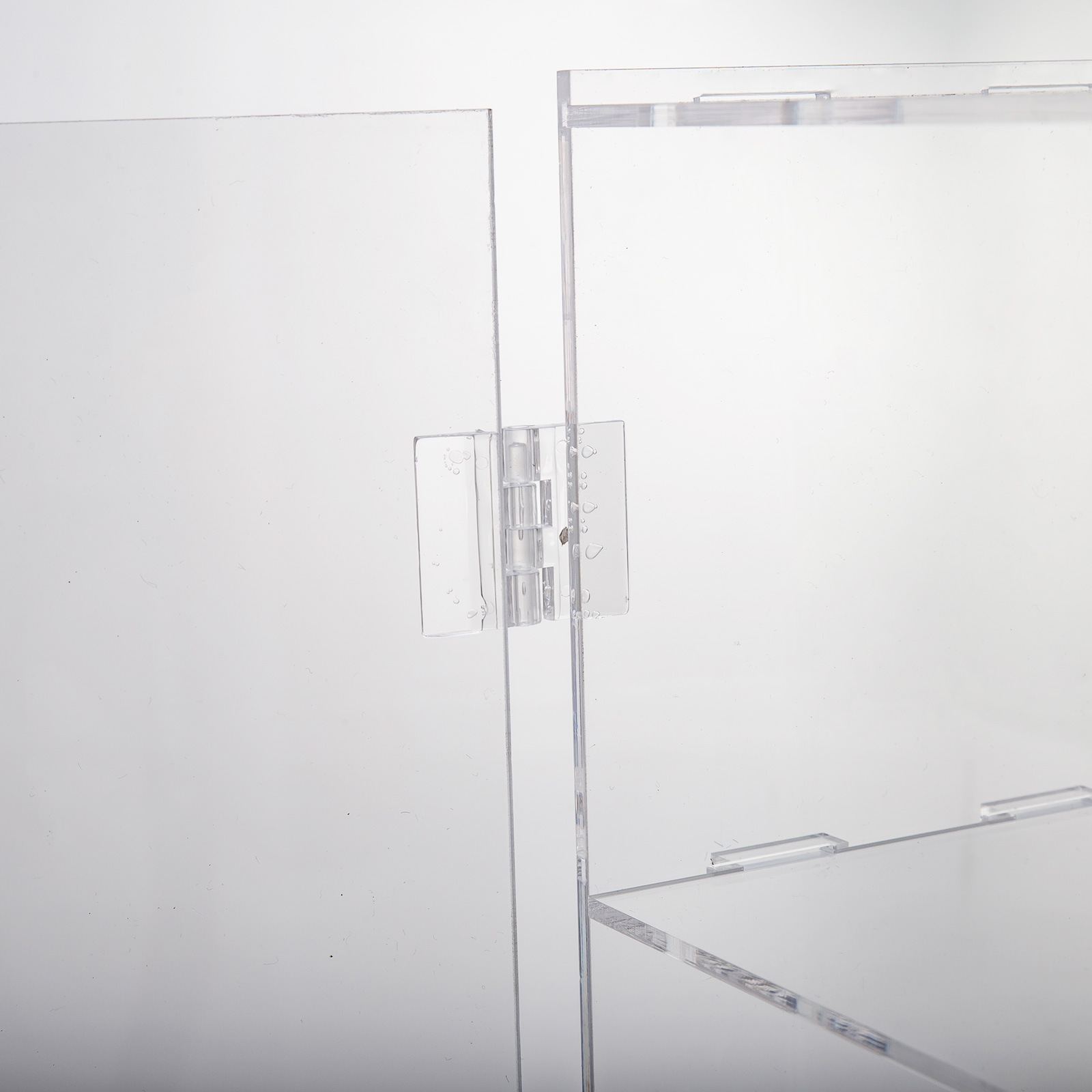 thumbnail 129 - 2-3-4-Shelves-Acrylic-Display-Cabinet-Glued-Unassembled-Bakery-Clear-Pastry