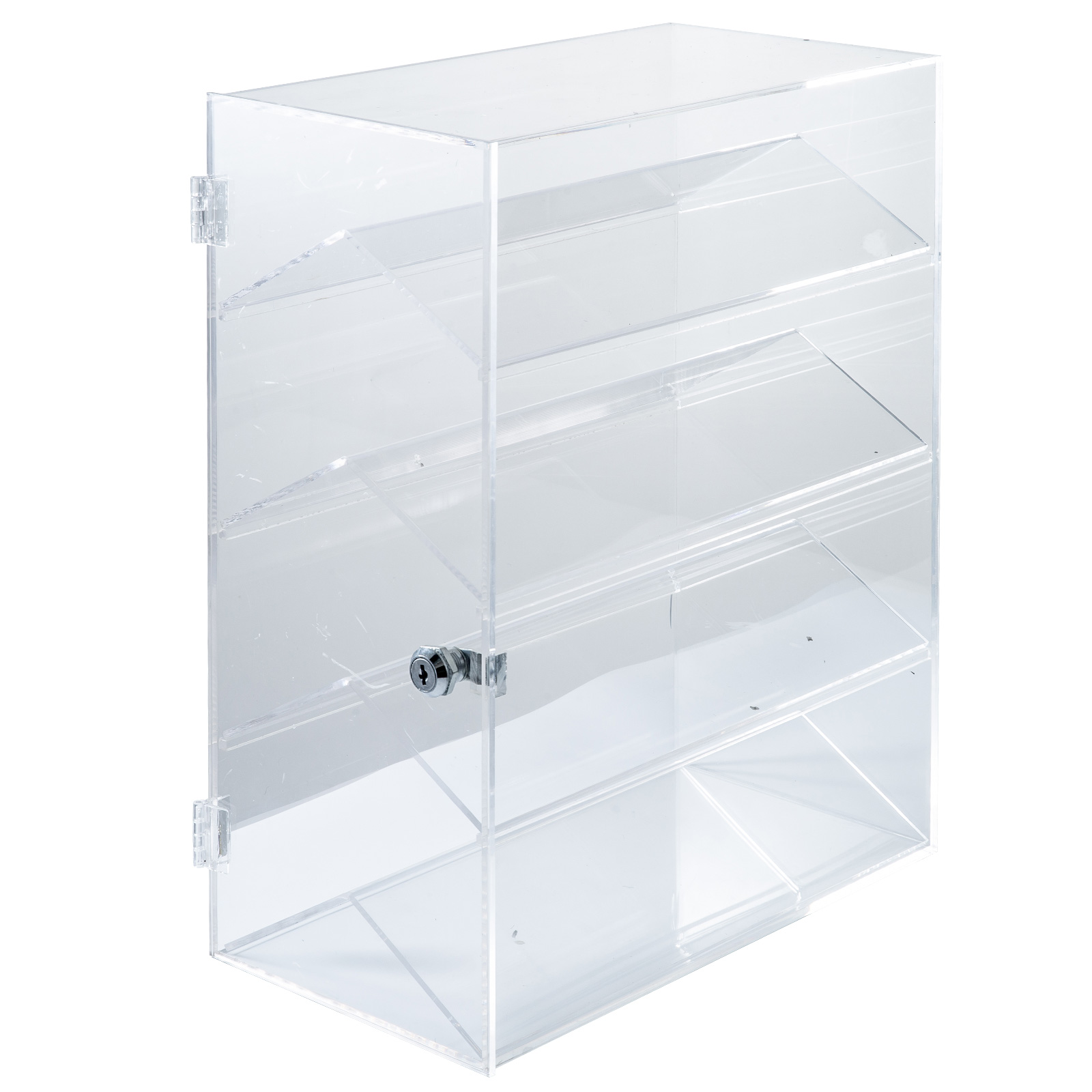thumbnail 142 - 2-3-4-Shelves-Acrylic-Display-Cabinet-Glued-Unassembled-Bakery-Clear-Pastry