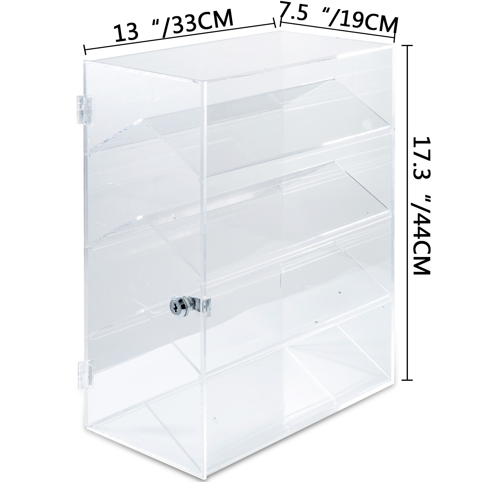 thumbnail 140 - 2-3-4-Shelves-Acrylic-Display-Cabinet-Glued-Unassembled-Bakery-Clear-Pastry