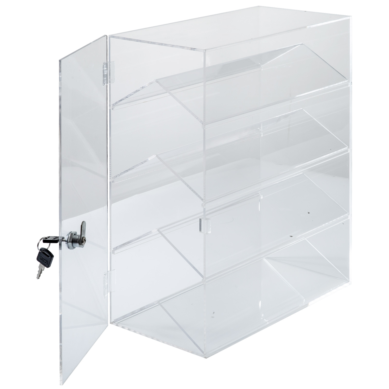thumbnail 141 - 2-3-4-Shelves-Acrylic-Display-Cabinet-Glued-Unassembled-Bakery-Clear-Pastry