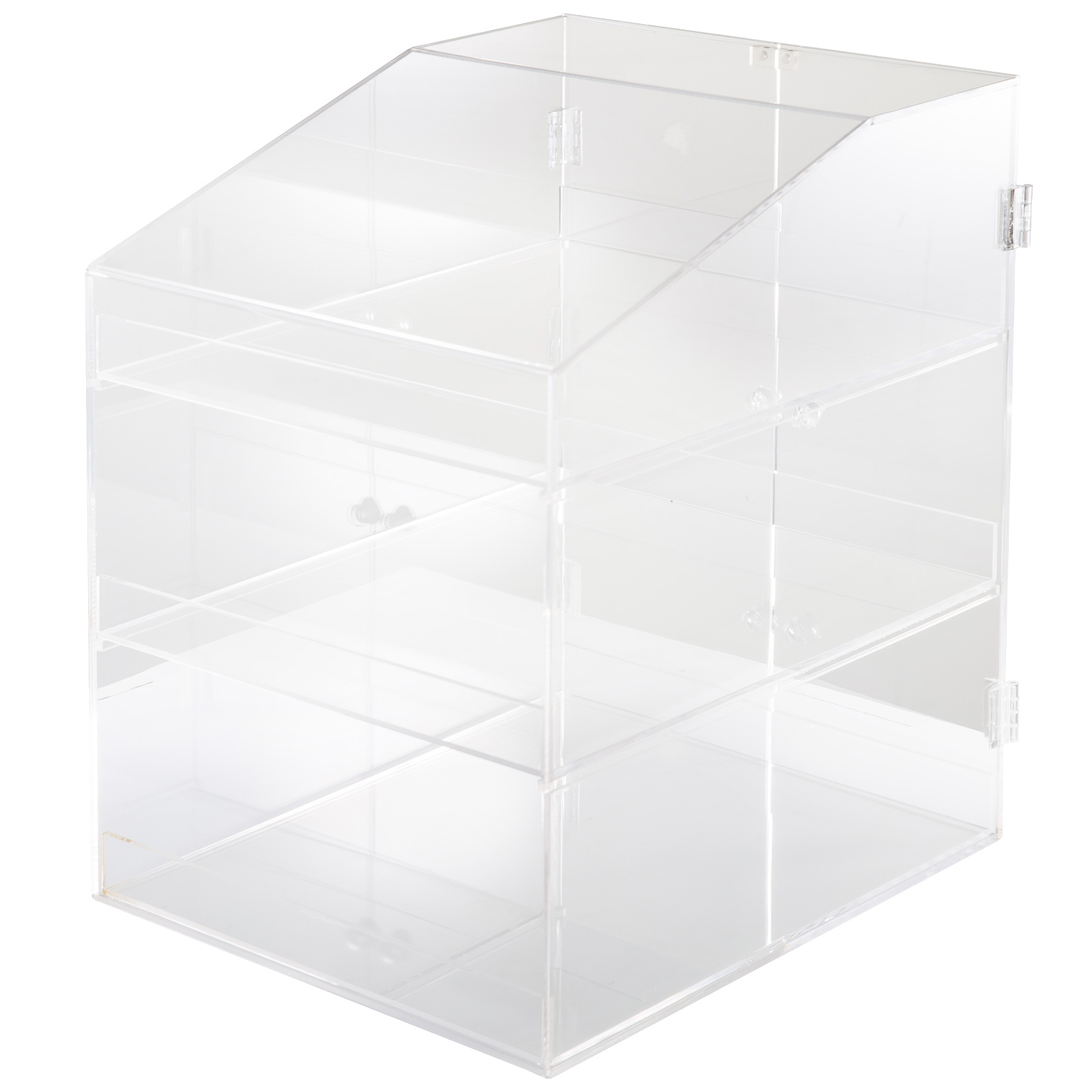 thumbnail 46 - 2-3-4-Shelves-Acrylic-Display-Cabinet-Glued-Unassembled-Bakery-Clear-Pastry
