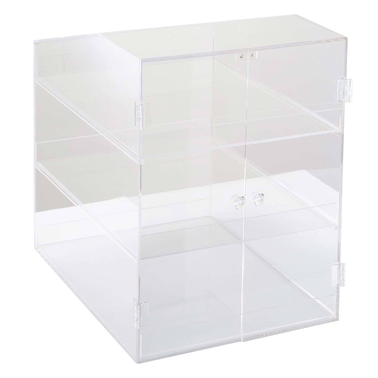 thumbnail 45 - 2-3-4-Shelves-Acrylic-Display-Cabinet-Glued-Unassembled-Bakery-Clear-Pastry