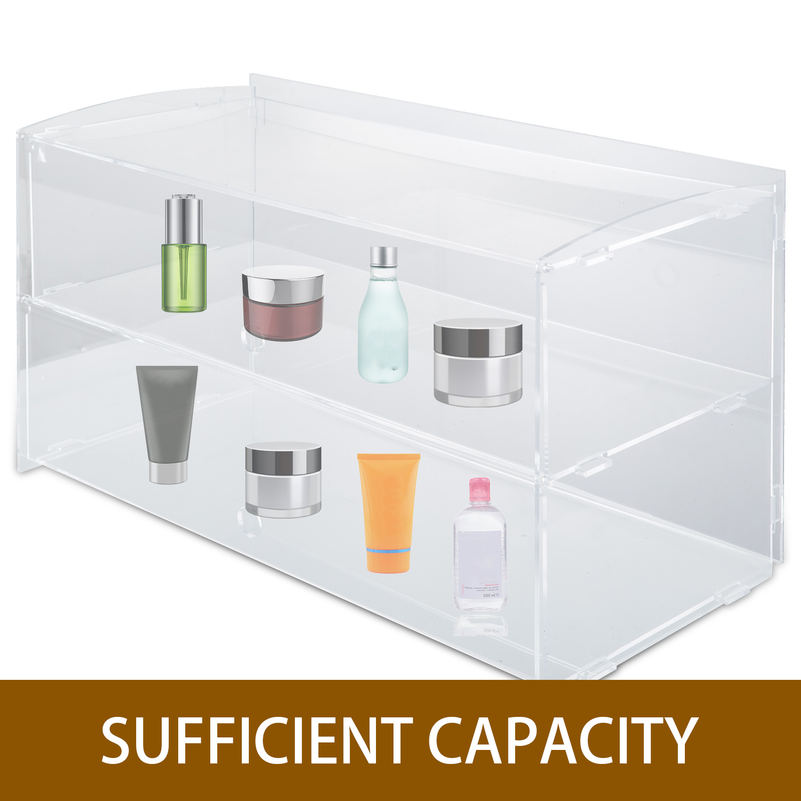 thumbnail 98 - 2-3-4-Shelves-Acrylic-Display-Cabinet-Glued-Unassembled-Bakery-Clear-Pastry