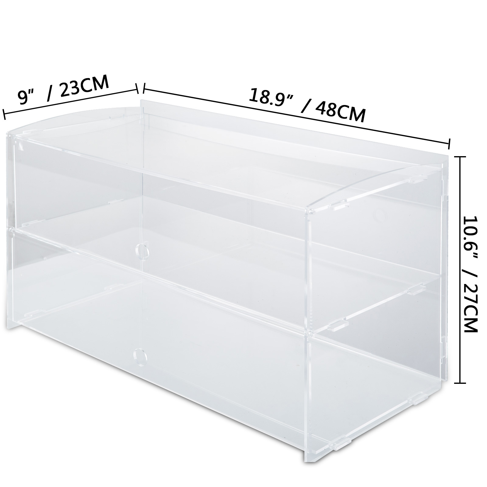 thumbnail 104 - 2-3-4-Shelves-Acrylic-Display-Cabinet-Glued-Unassembled-Bakery-Clear-Pastry