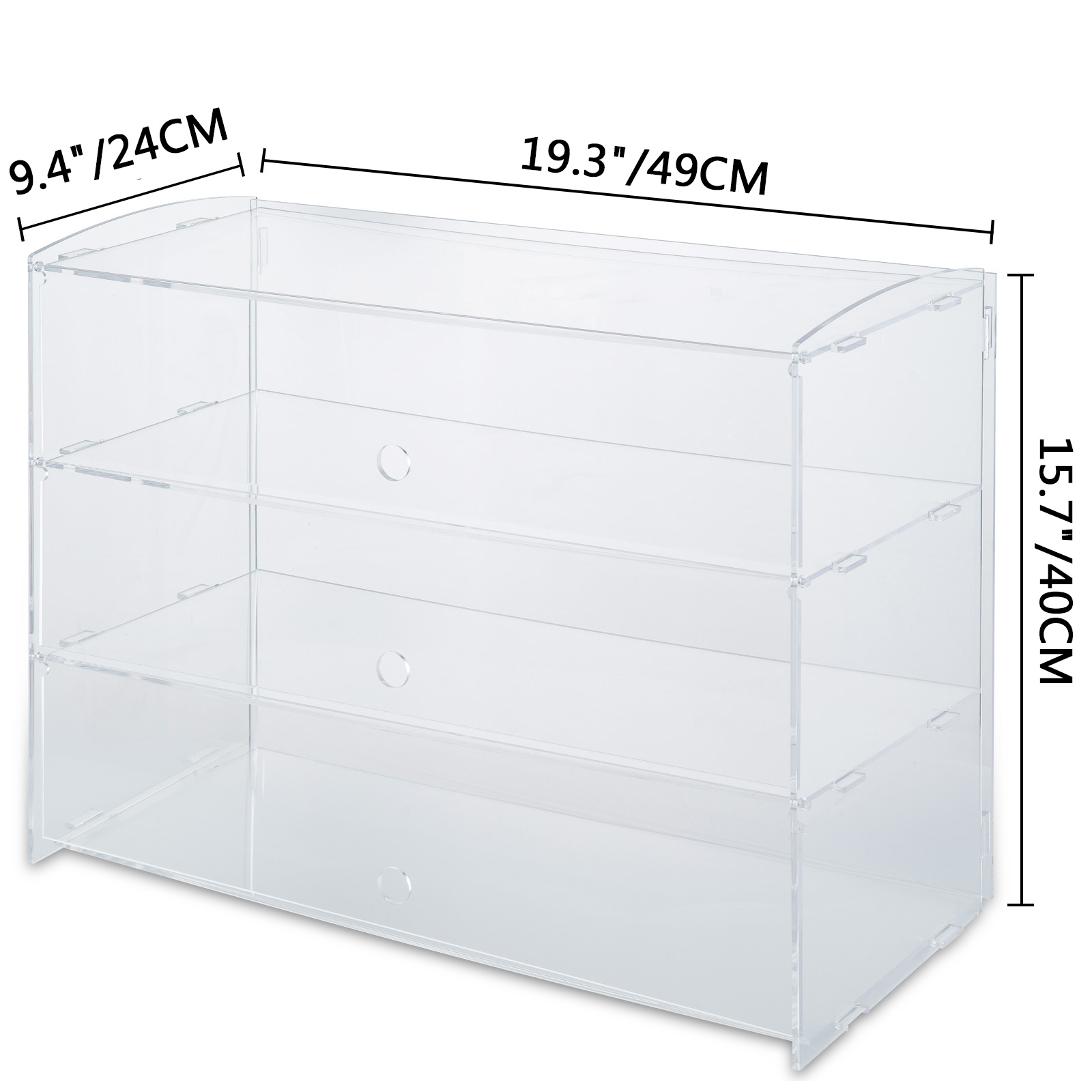 thumbnail 92 - 2-3-4-Shelves-Acrylic-Display-Cabinet-Glued-Unassembled-Bakery-Clear-Pastry