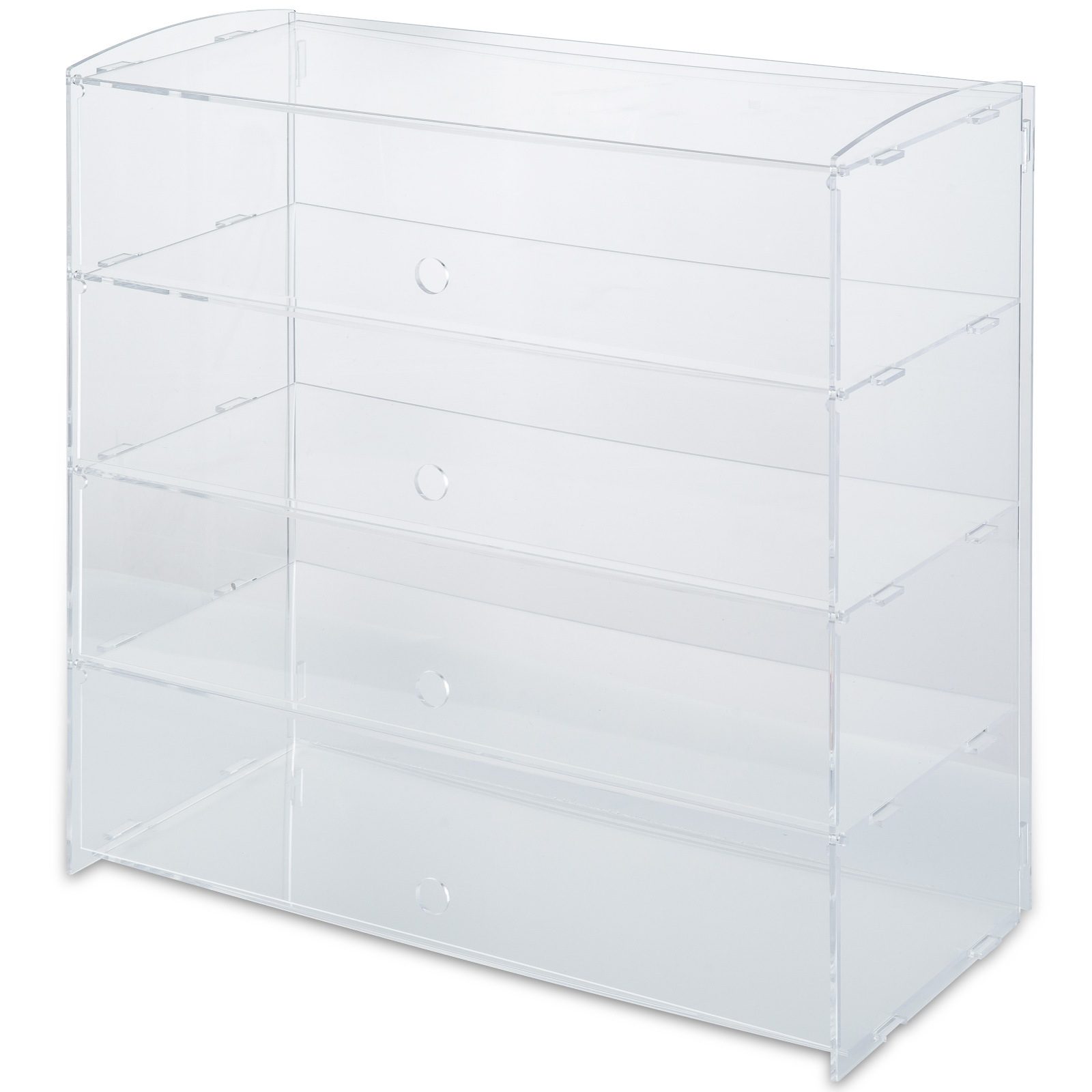 thumbnail 73 - 2-3-4-Shelves-Acrylic-Display-Cabinet-Glued-Unassembled-Bakery-Clear-Pastry