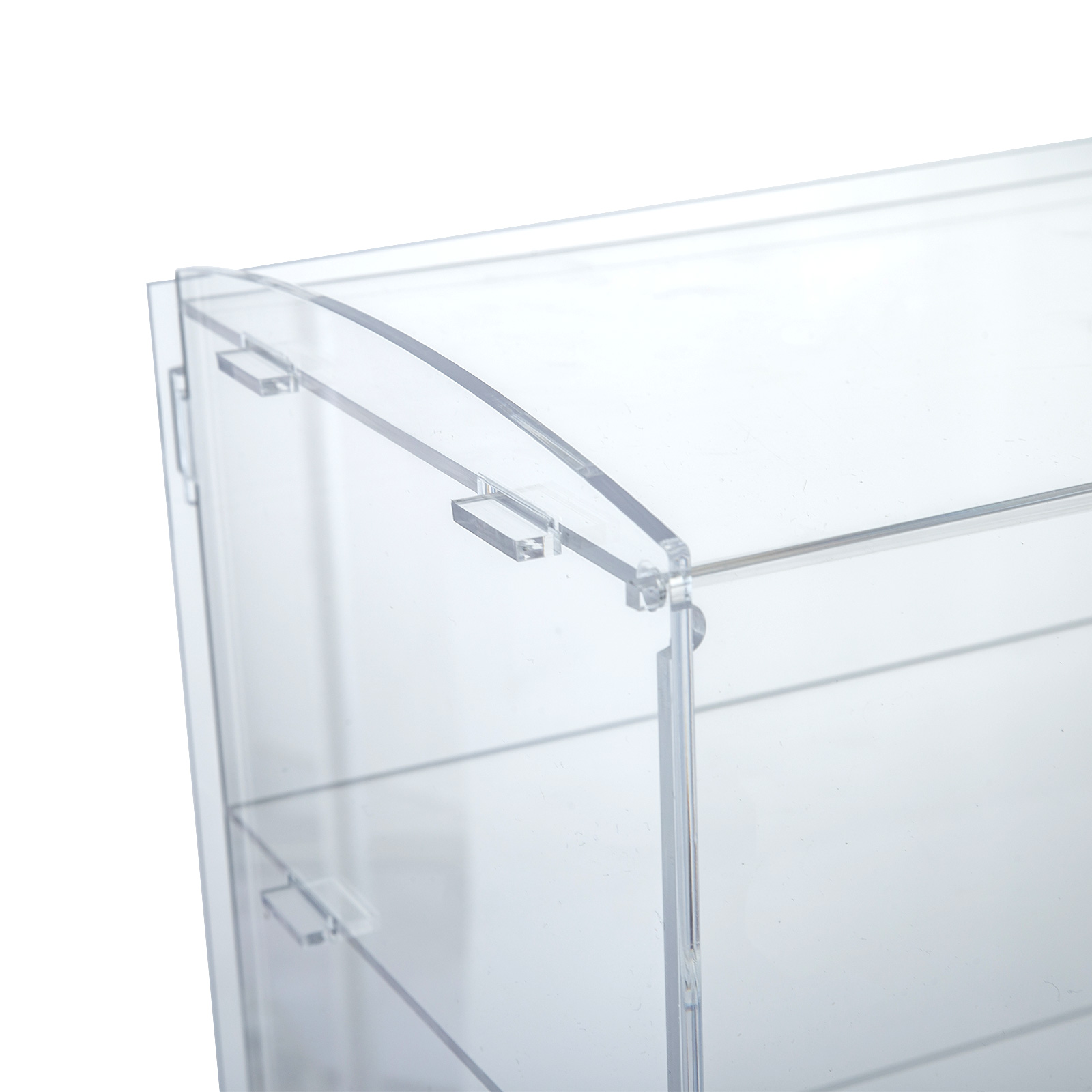 thumbnail 84 - 2-3-4-Shelves-Acrylic-Display-Cabinet-Glued-Unassembled-Bakery-Clear-Pastry