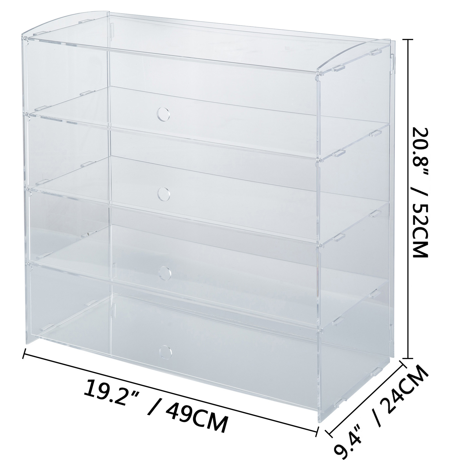 thumbnail 80 - 2-3-4-Shelves-Acrylic-Display-Cabinet-Glued-Unassembled-Bakery-Clear-Pastry