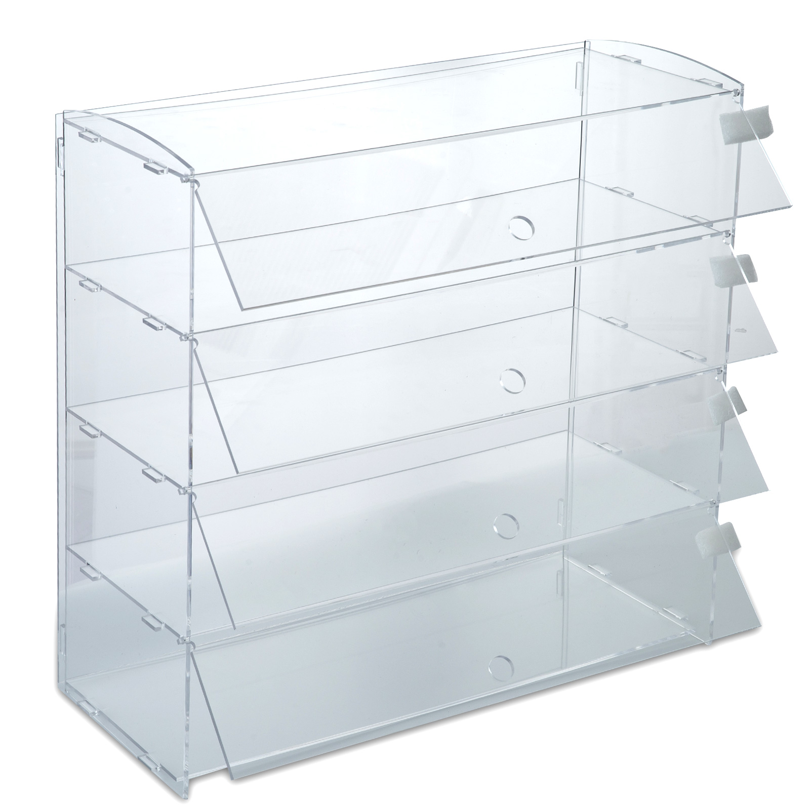 thumbnail 81 - 2-3-4-Shelves-Acrylic-Display-Cabinet-Glued-Unassembled-Bakery-Clear-Pastry