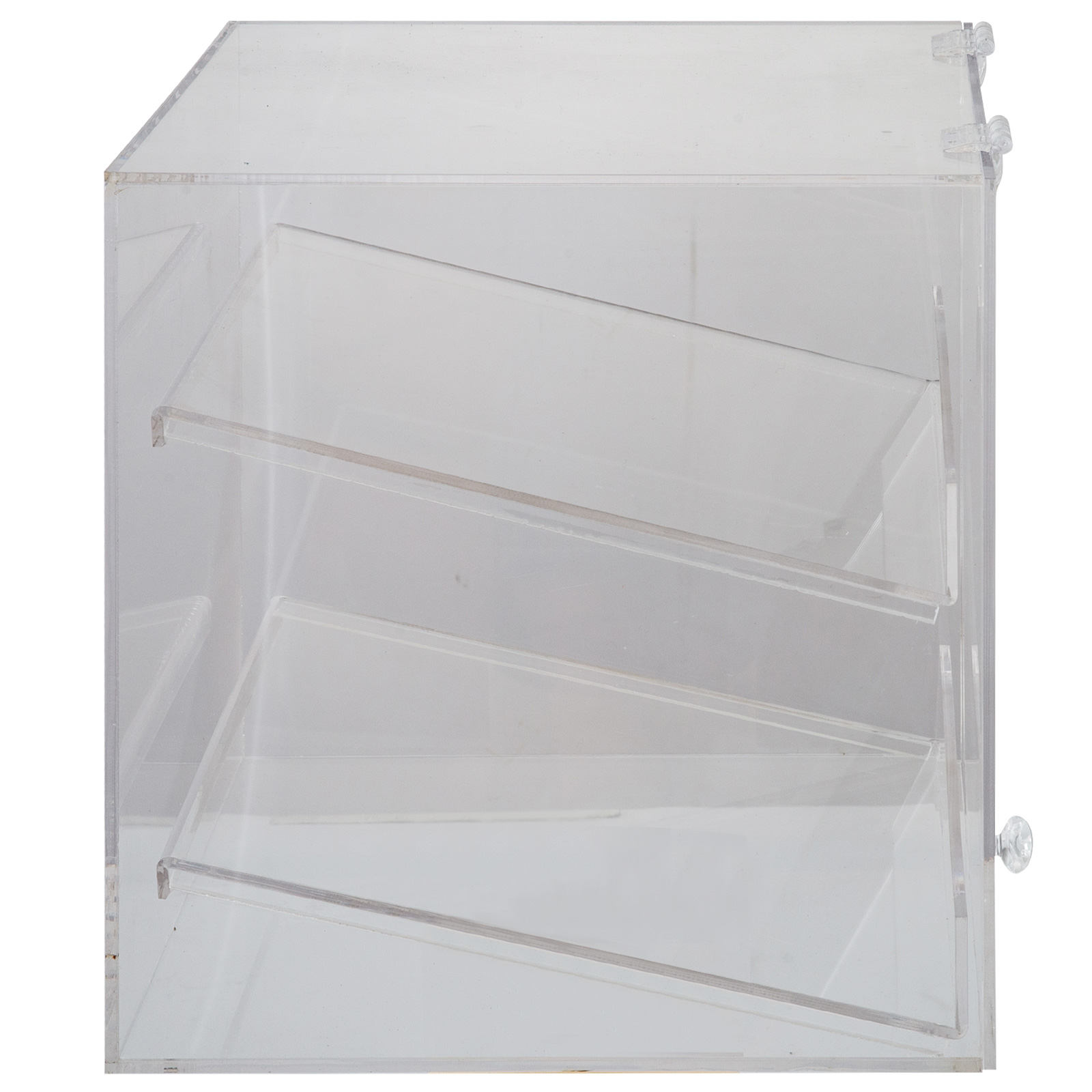 thumbnail 72 - 2-3-4-Shelves-Acrylic-Display-Cabinet-Glued-Unassembled-Bakery-Clear-Pastry
