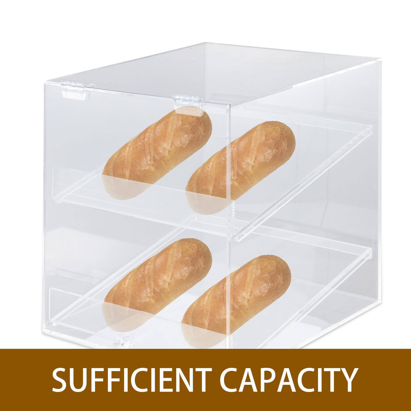 thumbnail 62 - 2-3-4-Shelves-Acrylic-Display-Cabinet-Bakery-Storage-Donut-Showcase-Lock-Unlock