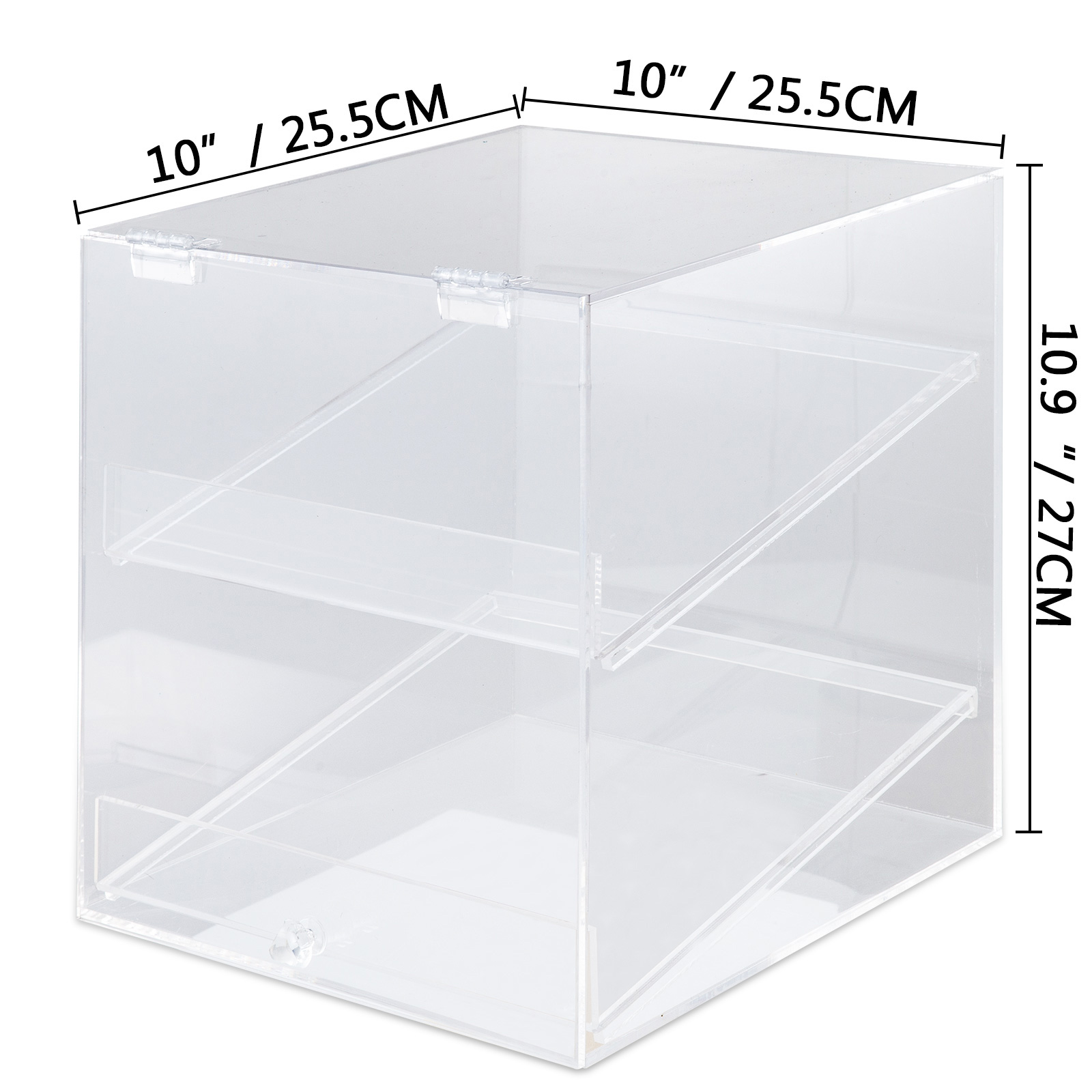 thumbnail 68 - 2-3-4-Shelves-Acrylic-Display-Cabinet-Glued-Unassembled-Bakery-Clear-Pastry