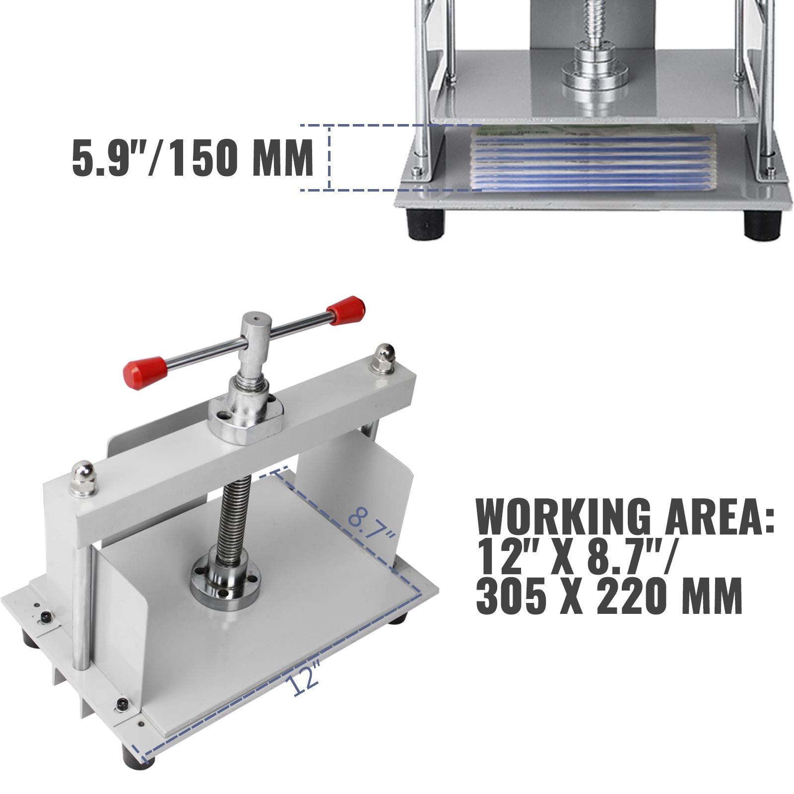 Flachdrücken Maschine Buchbinder aus Stahl Buchbinderpresse für Papier A4