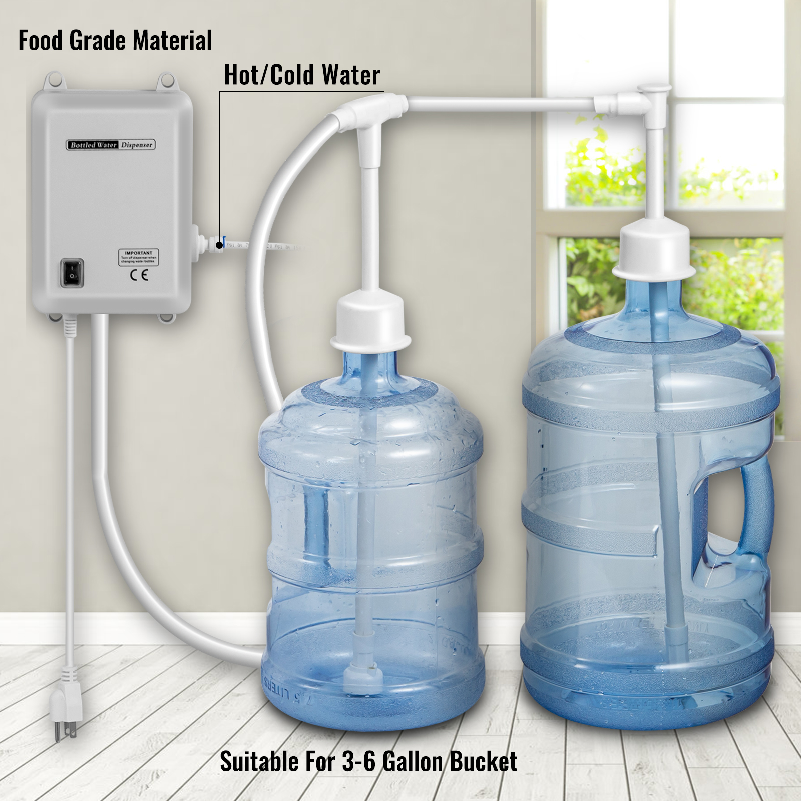 120V AC Bottled Water Dispensing Pump System Dispenser Replace Bunn Flojet 40PSI