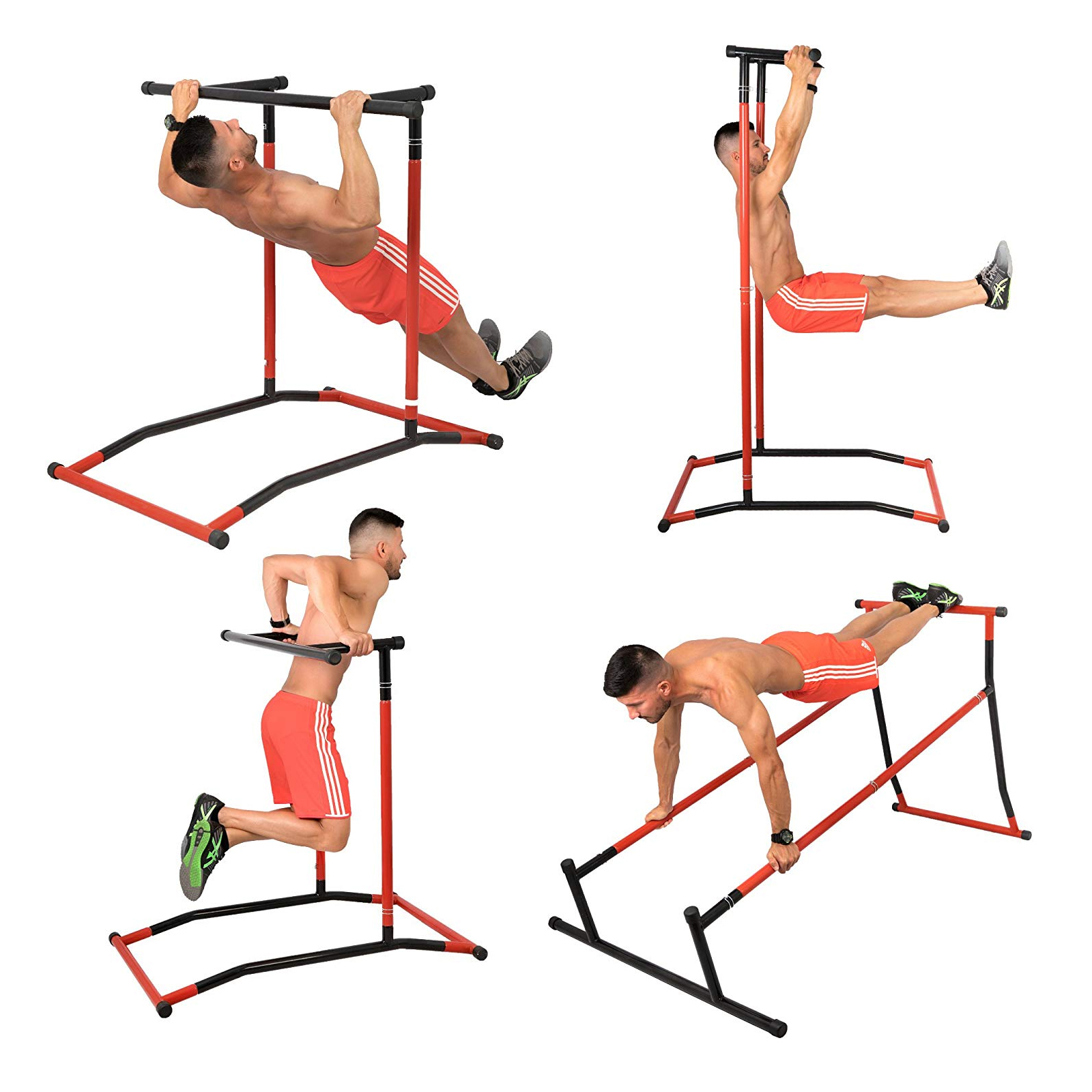 Portable-Power-Tower-for-Home-Gym-Workout-With-Dip-Station-And-Chin-Pull-Up-Bar thumbnail 35