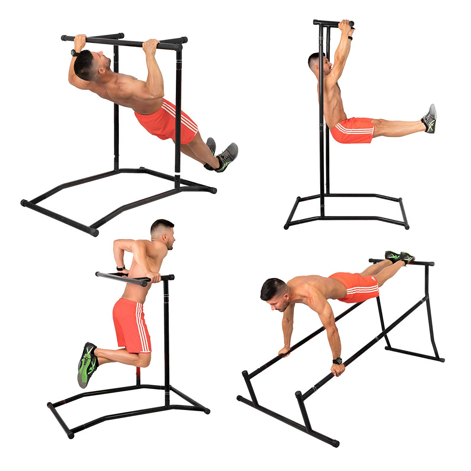 Portable-Power-Tower-for-Home-Gym-Workout-With-Dip-Station-And-Chin-Pull-Up-Bar thumbnail 48