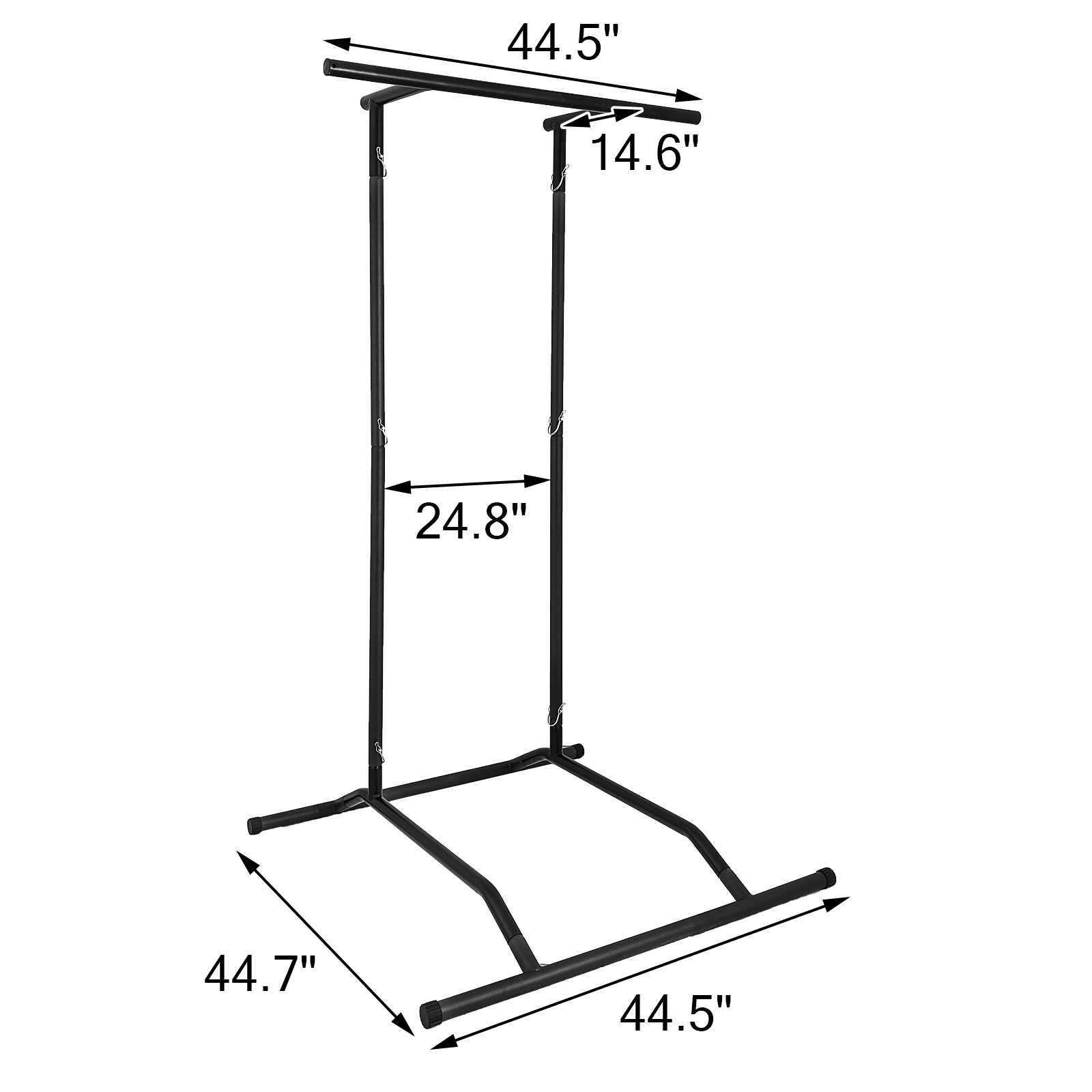 Portable-Power-Tower-for-Home-Gym-Workout-With-Dip-Station-And-Chin-Pull-Up-Bar thumbnail 38