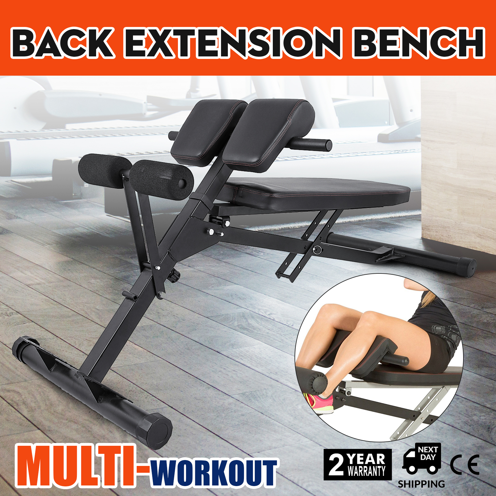 Roman chair fitness hyper extension sit up crunches back training