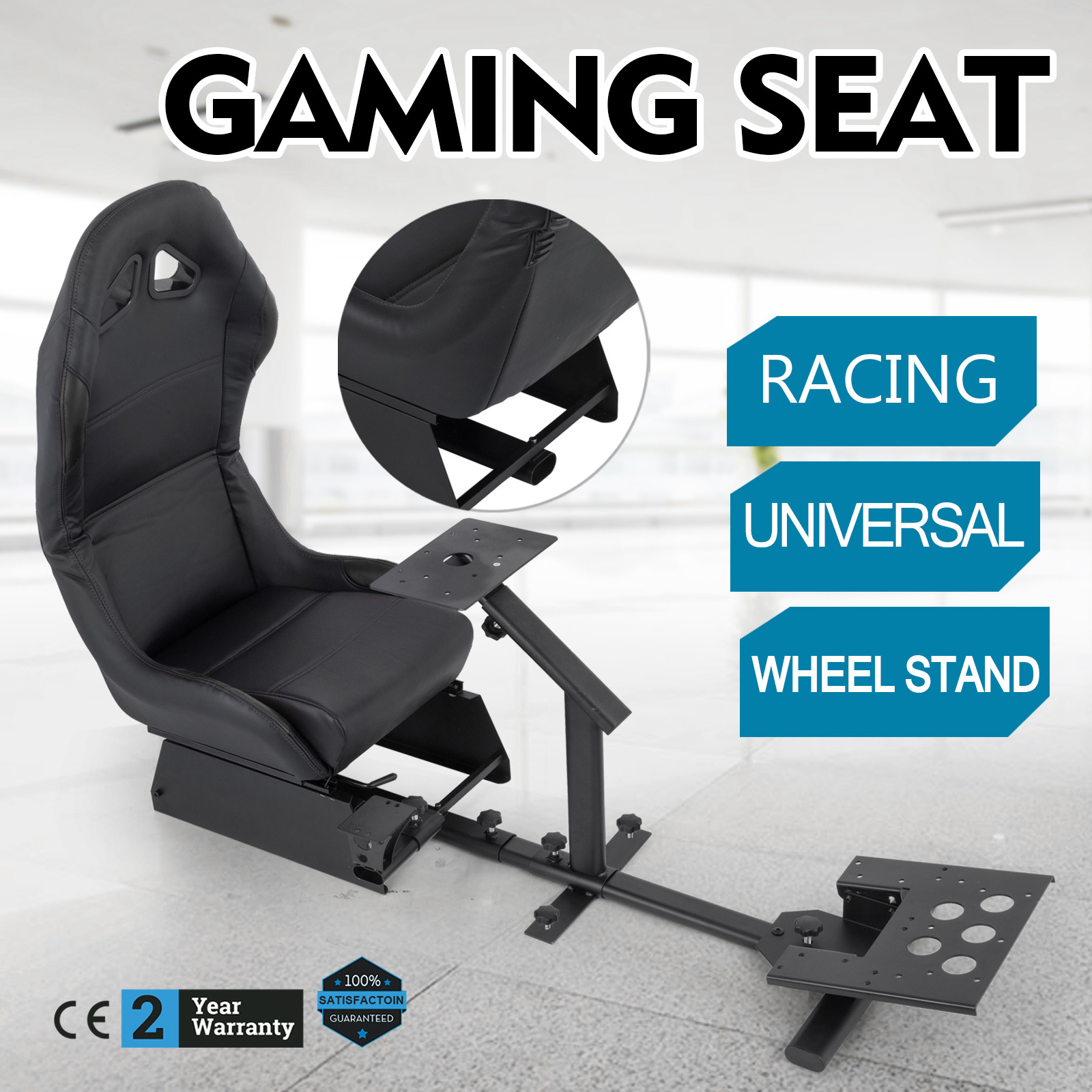 Details About Cockpit Driving Simulator Car/auto Racing Seat Gaming  Chair+gear Mount Kit