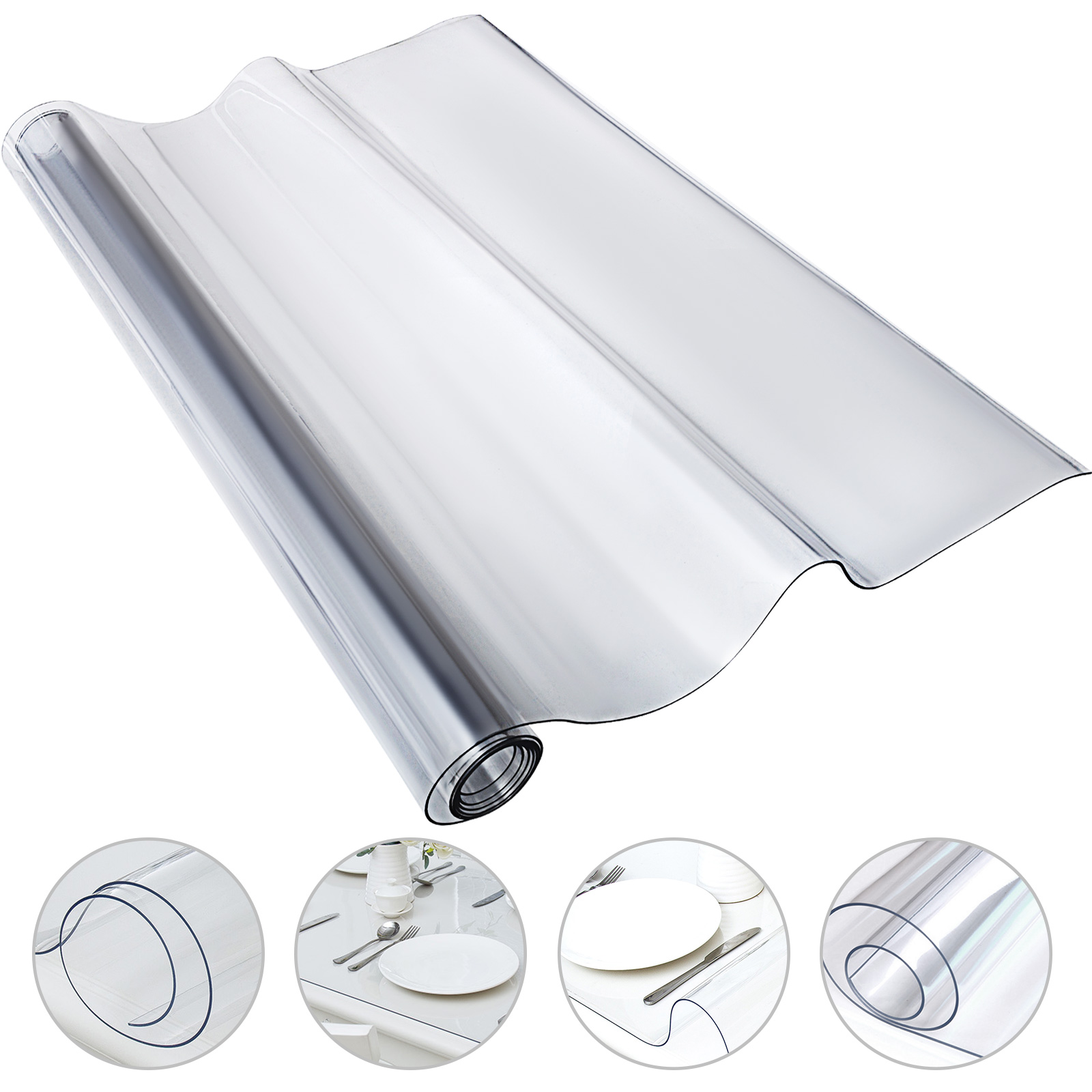 Waterproof Clear Plastic Pvc Tablecloth Transparent