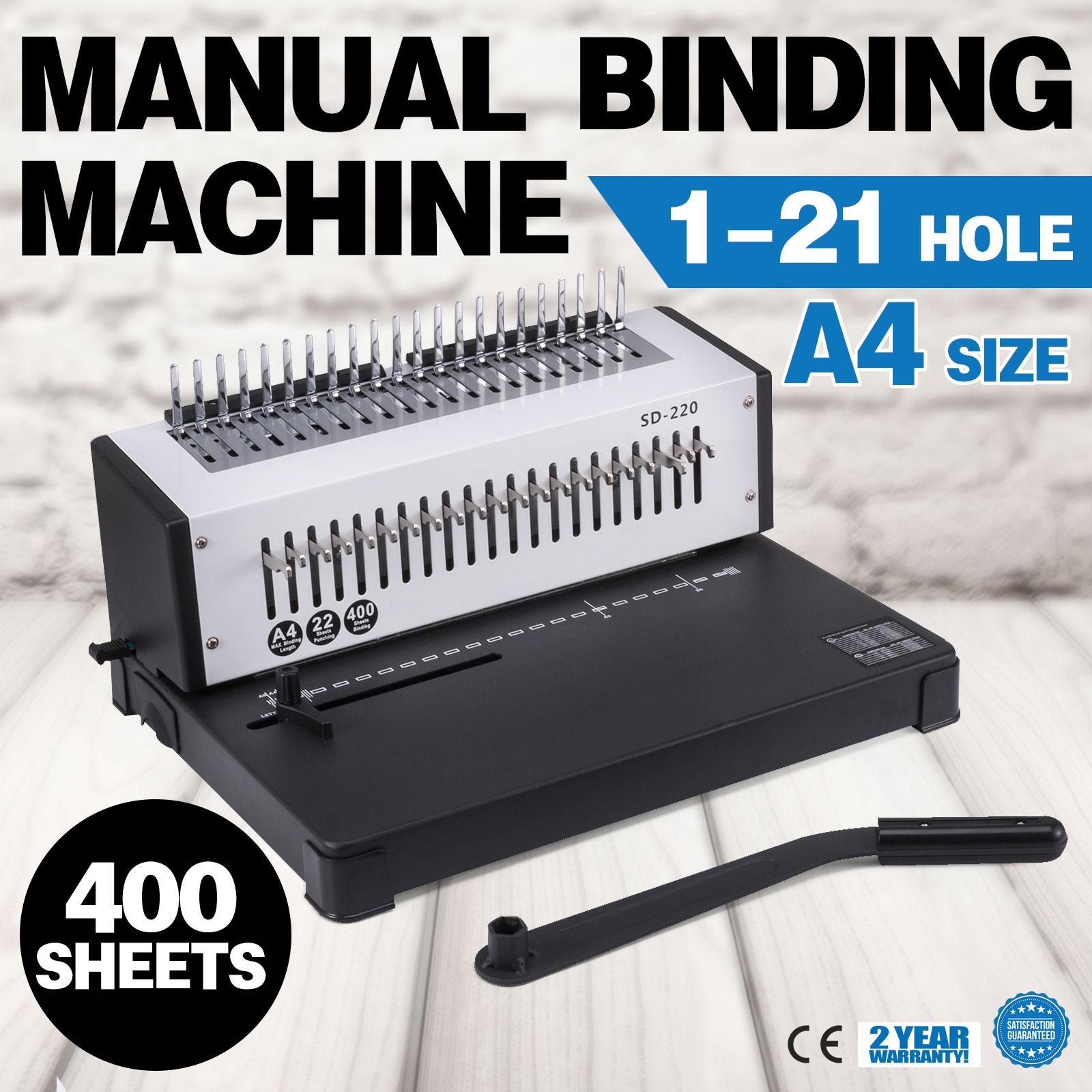 Steel Comb Coil Paper Puncher Paper Binder Binding Machine