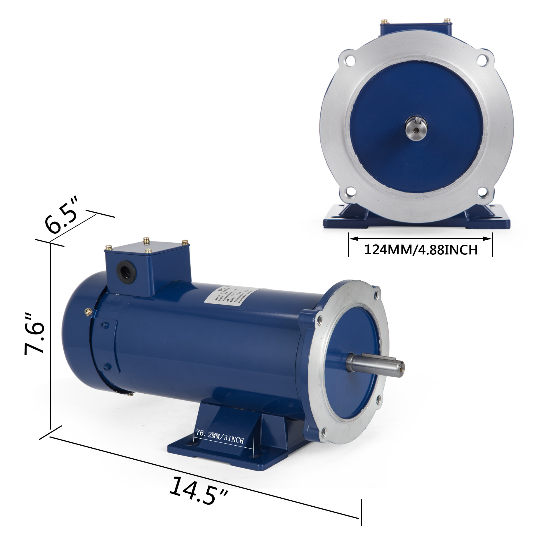 DC MOTOR 1 HP 56C Frame 12//24V //1750RPM TEFC MAGNET Generally RemovBase Grease