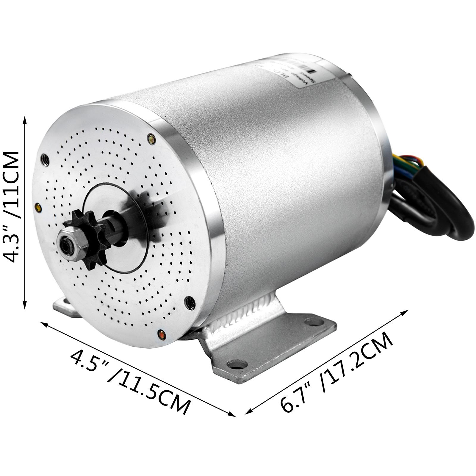 1800W-48V-DC-Brushless-Electric-Motor-Kit-f-Scooter-500-1800W-E-Bike-Go-Kart thumbnail 200