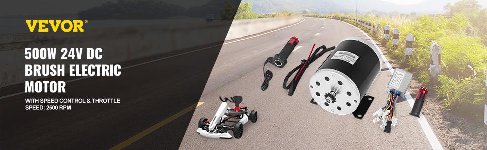24V 500W Brush Motor Speed Controller Throttle Grips for Scooter E Bike e ATV DI