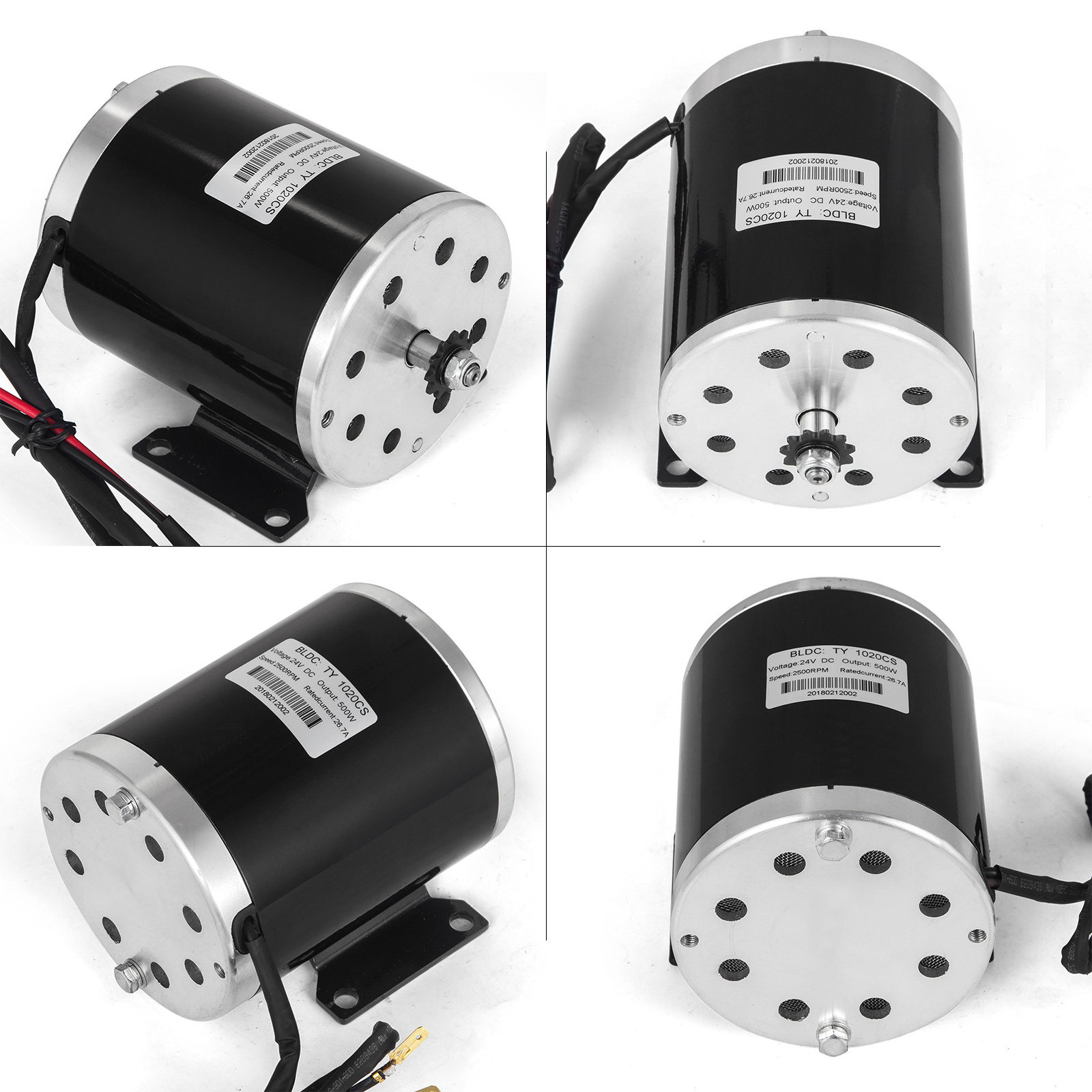 24v 500w DC Electric Motor/& Switch /&control /&Throttle Bike Chain drive e-ATV