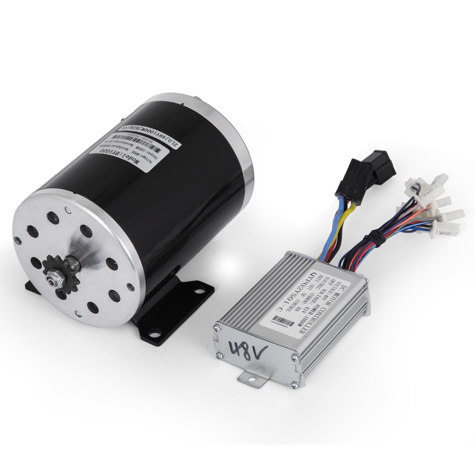 1800W-48V-DC-Brushless-Electric-Motor-Kit-f-Scooter-500-1800W-E-Bike-Go-Kart thumbnail 40