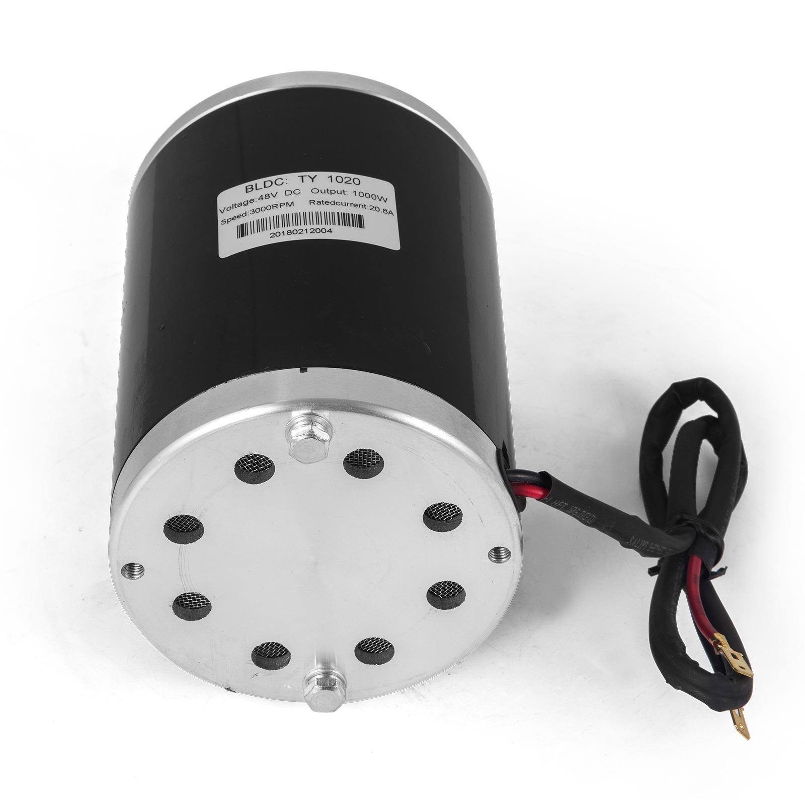 1000 W 48V DC Electric Motor w// #25 sprocket TY1020 - w// Mounting Bracket