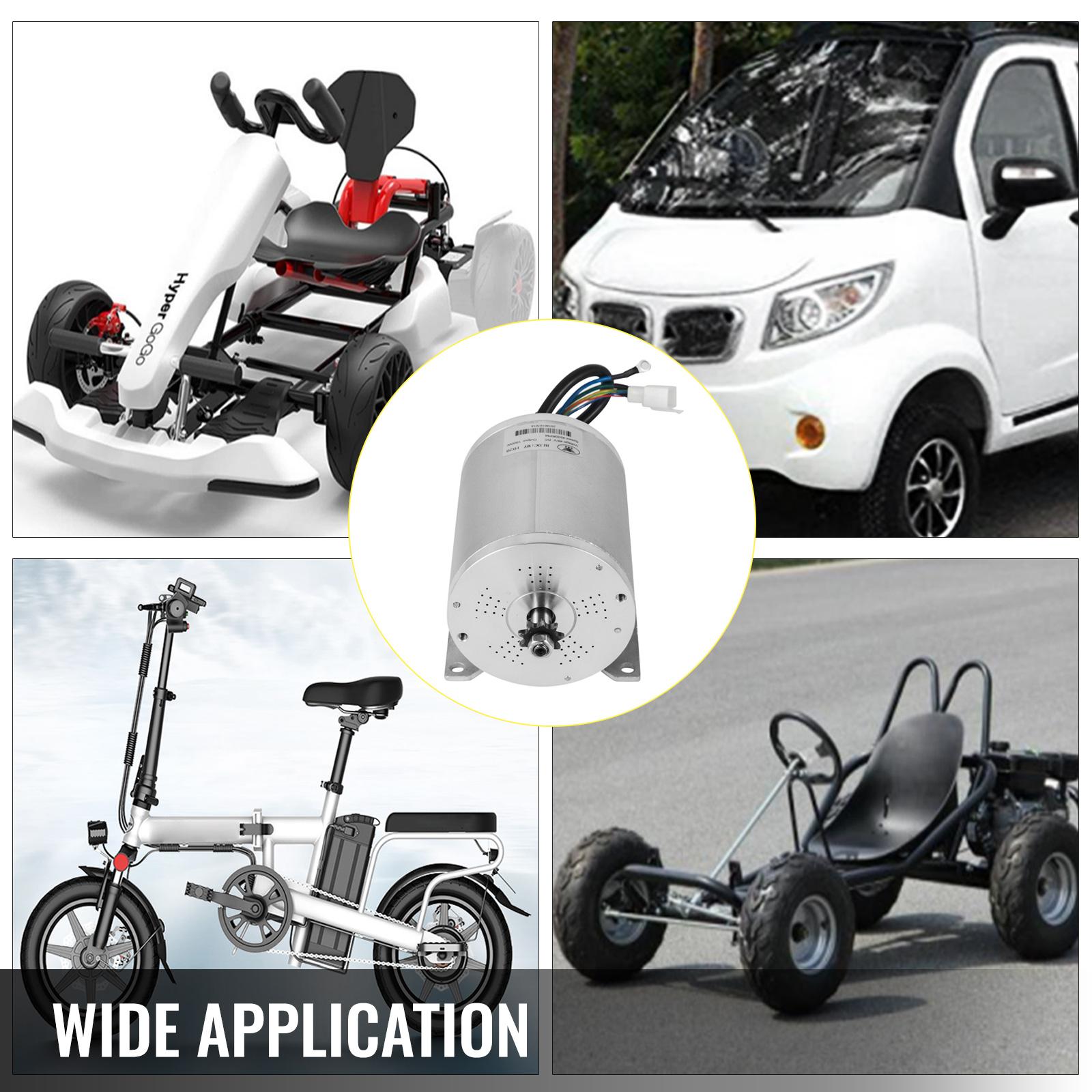 1800W-48V-DC-Brushless-Electric-Motor-Kit-f-Scooter-500-1800W-E-Bike-Go-Kart thumbnail 127