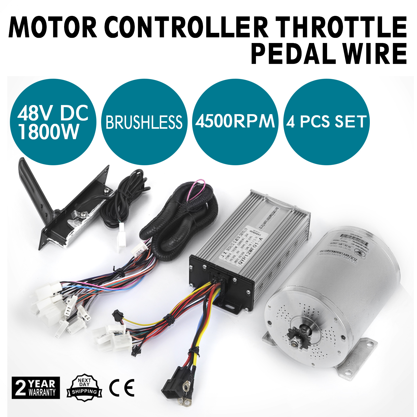1800w 48v Brushless Motor Controller Throttle Pedal Wire Harness Electric Bicycle Bldc From Reliable Service Product Description This Is A Set Of Universal Dc