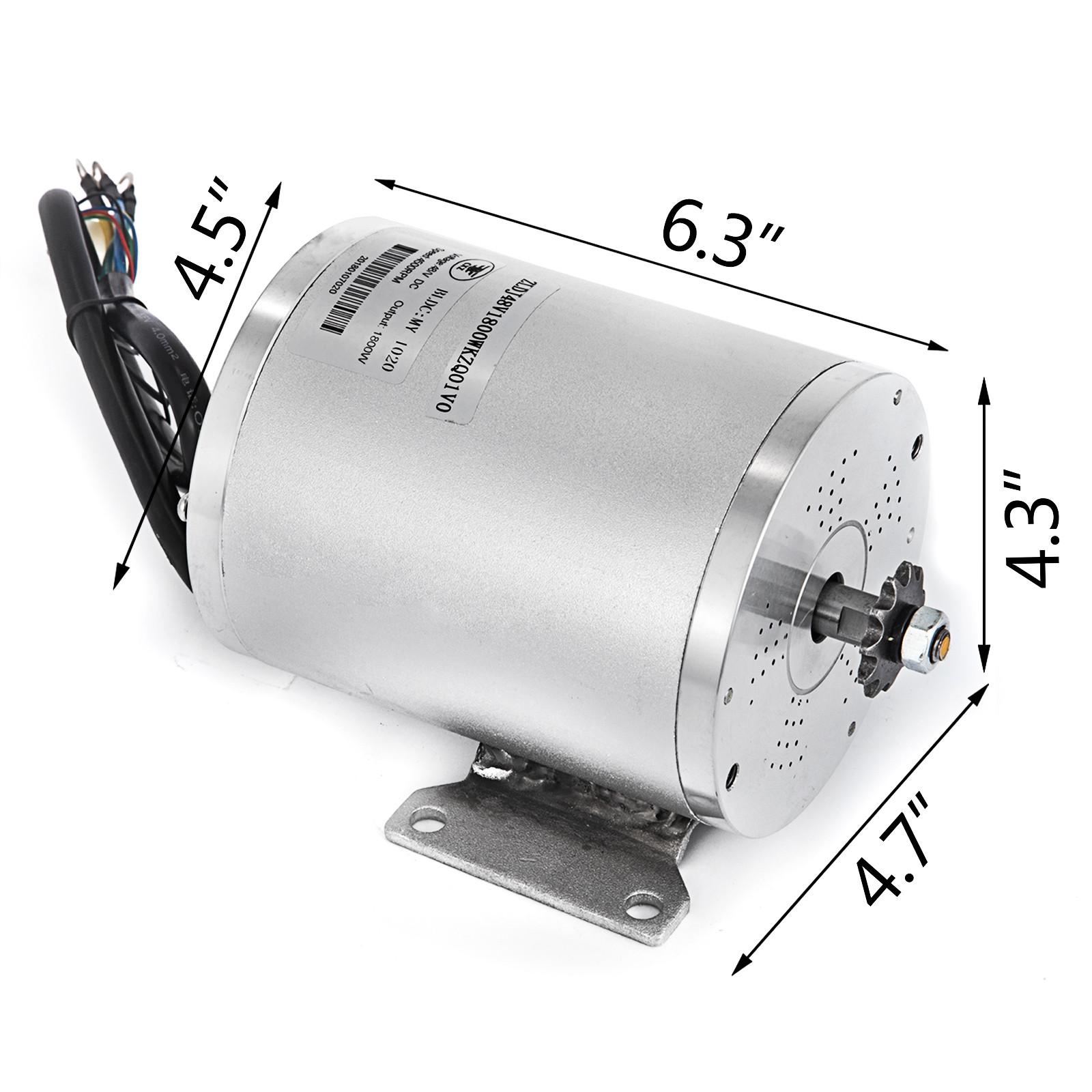 1800W-48V-DC-Brushless-Electric-Motor-Kit-f-Scooter-500-1800W-E-Bike-Go-Kart thumbnail 158