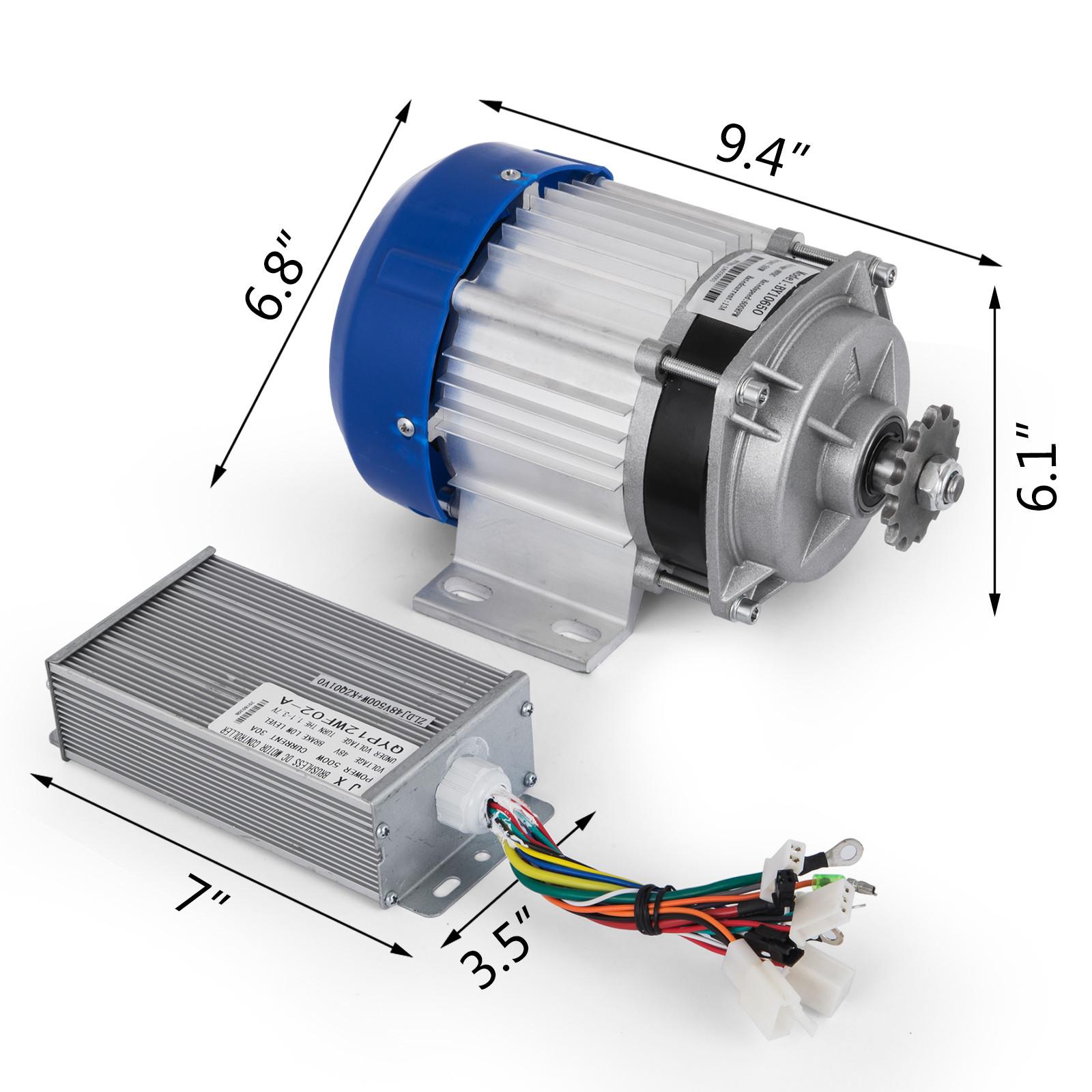 1800W-48V-DC-Brushless-Electric-Motor-Kit-f-Scooter-500-1800W-E-Bike-Go-Kart thumbnail 134