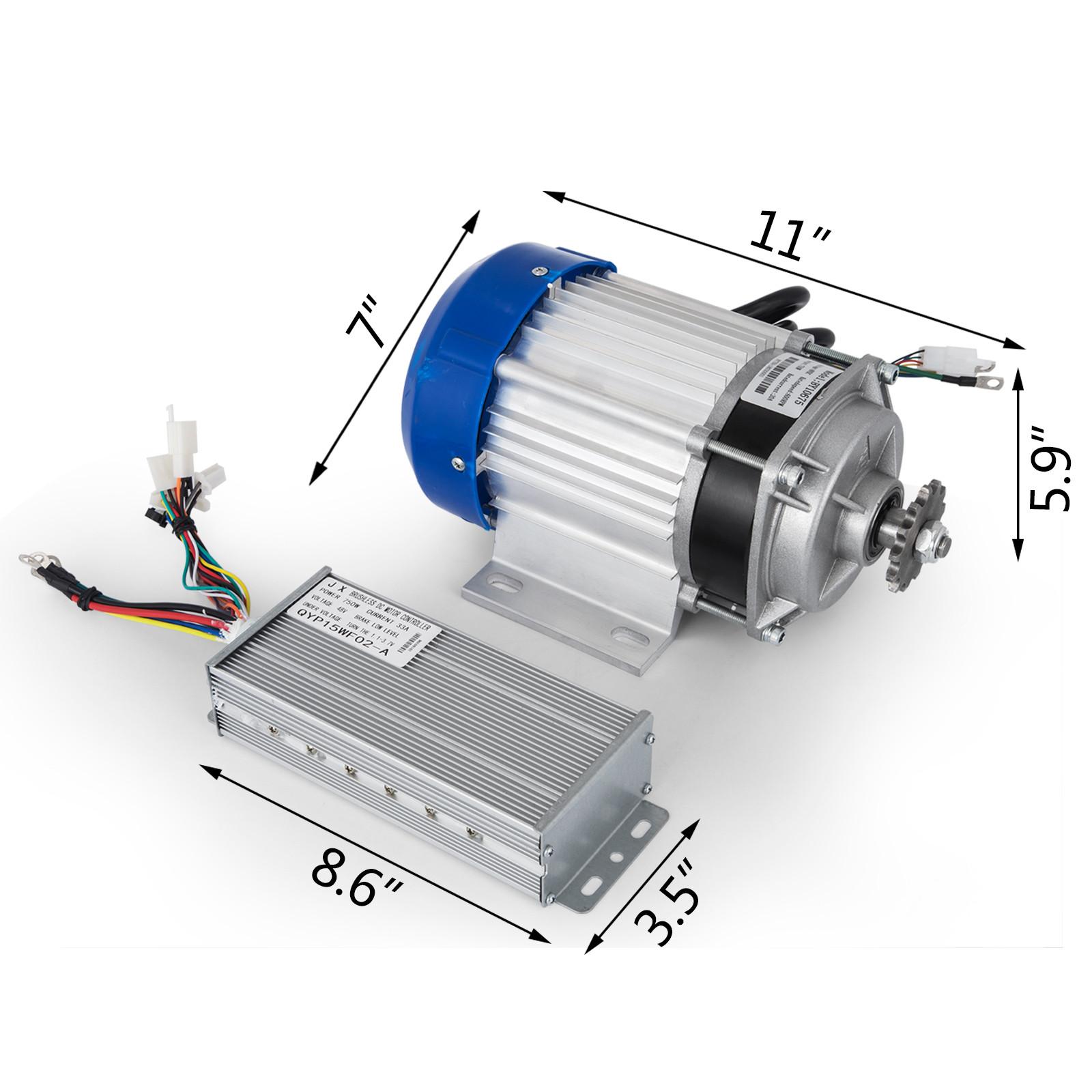 1800W-48V-DC-Brushless-Electric-Motor-Kit-f-Scooter-500-1800W-E-Bike-Go-Kart thumbnail 146