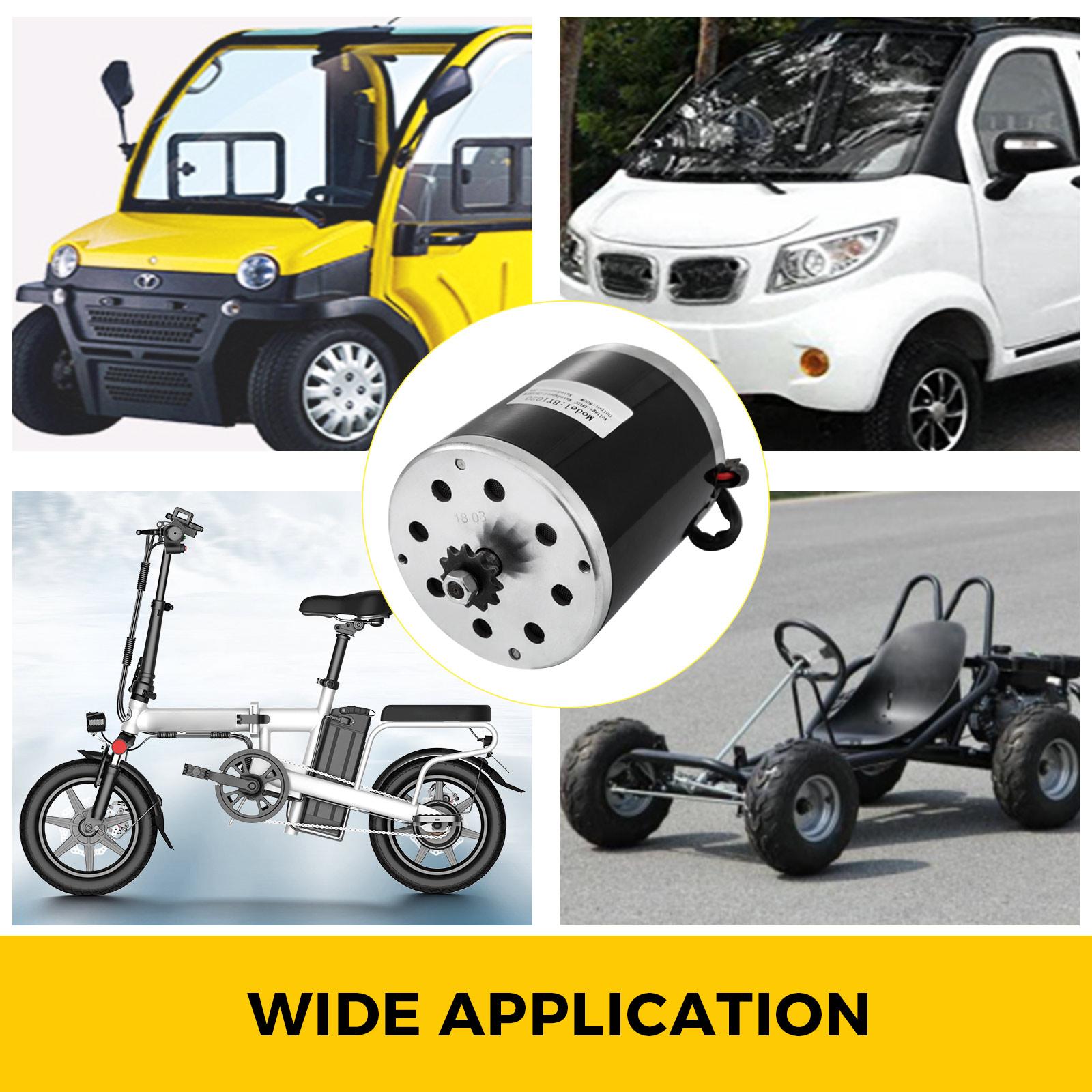 1800W-48V-DC-Brushless-Electric-Motor-Kit-f-Scooter-500-1800W-E-Bike-Go-Kart thumbnail 19