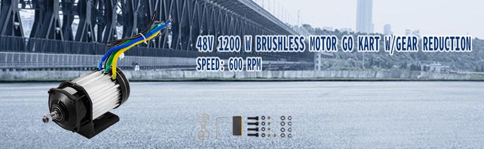 1200W Moteur à Courant Continu sans Balai 48V DC 600 tr //min haute vitesse 31,5A