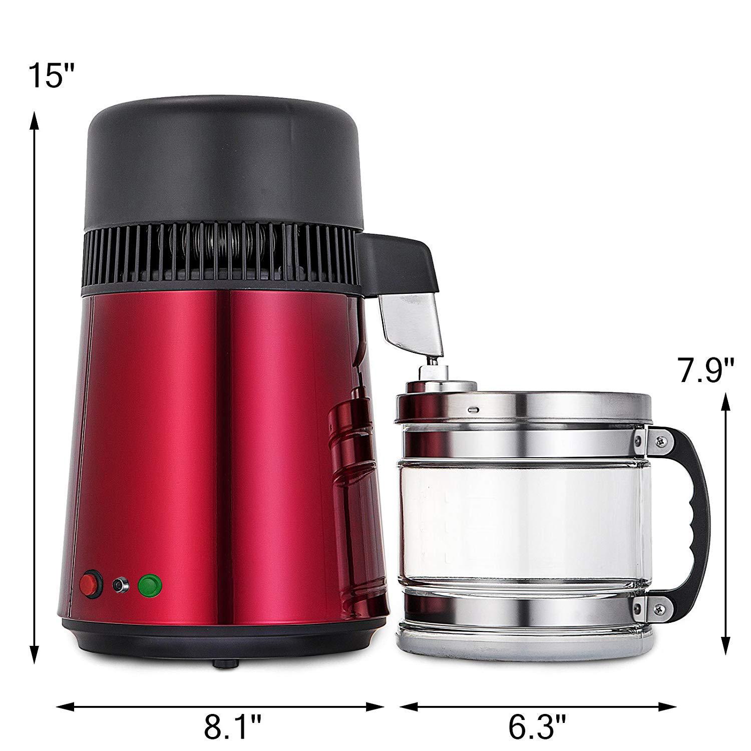 750W-4L-Wasser-Destilliergeraet-Water-Distiller-Einmachglas-Wasserflasche-Zuhause Indexbild 50
