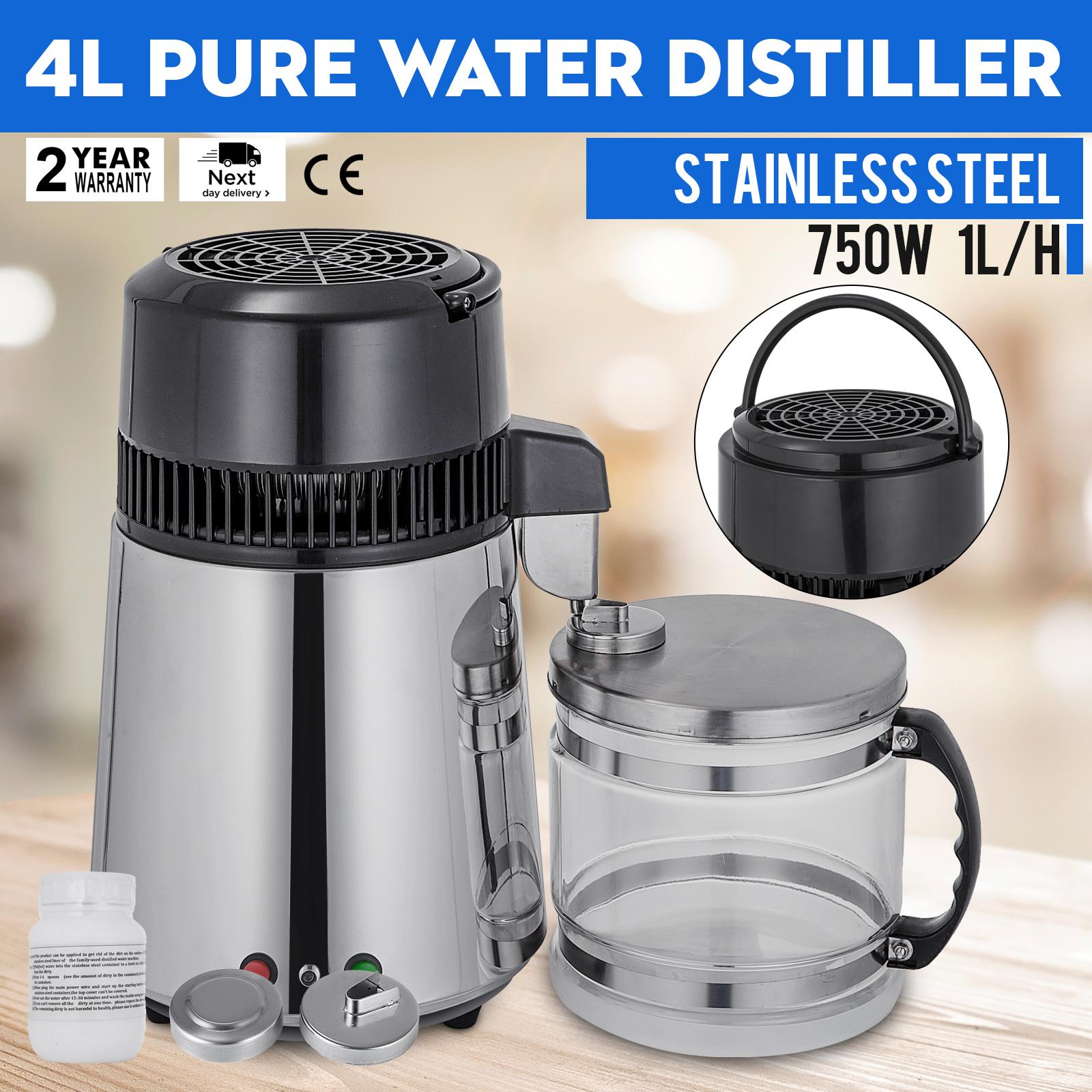 4L Wasser Destilliergerät Innenteil aus Edelstahl Distilled water machine 750W