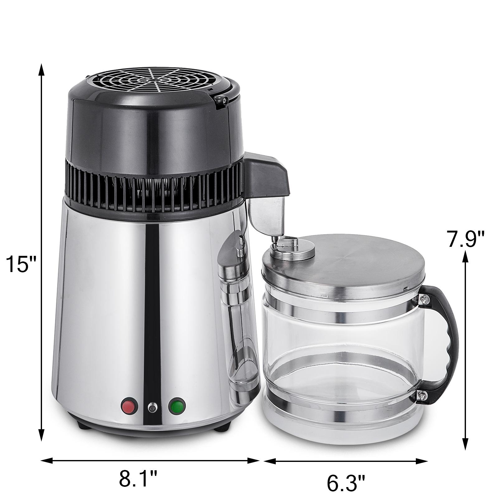 750W-4L-Wasser-Destilliergeraet-Water-Distiller-Einmachglas-Wasserflasche-Zuhause Indexbild 26