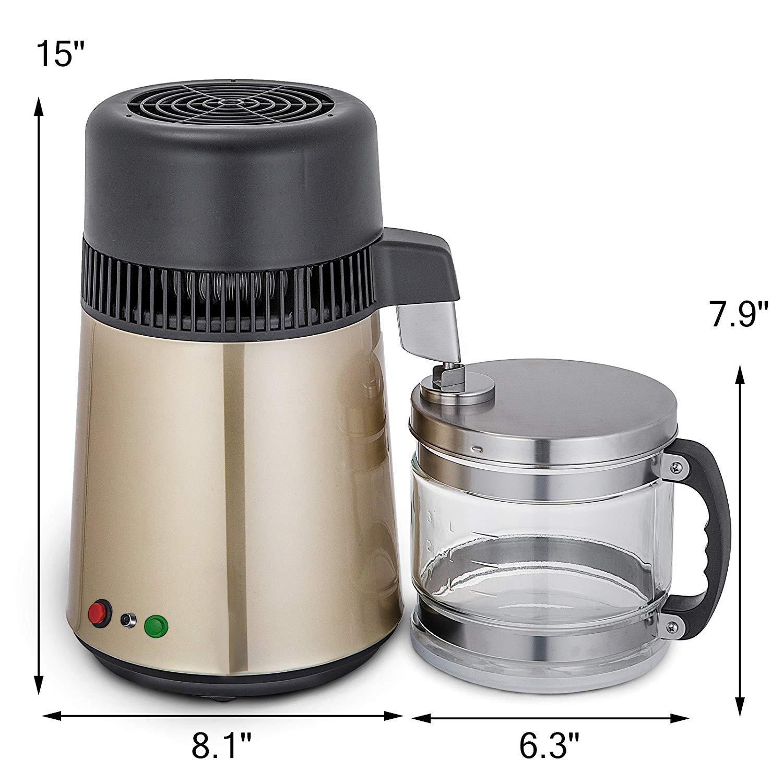 750W-4L-Wasser-Destilliergeraet-Water-Distiller-Einmachglas-Wasserflasche-Zuhause Indexbild 38